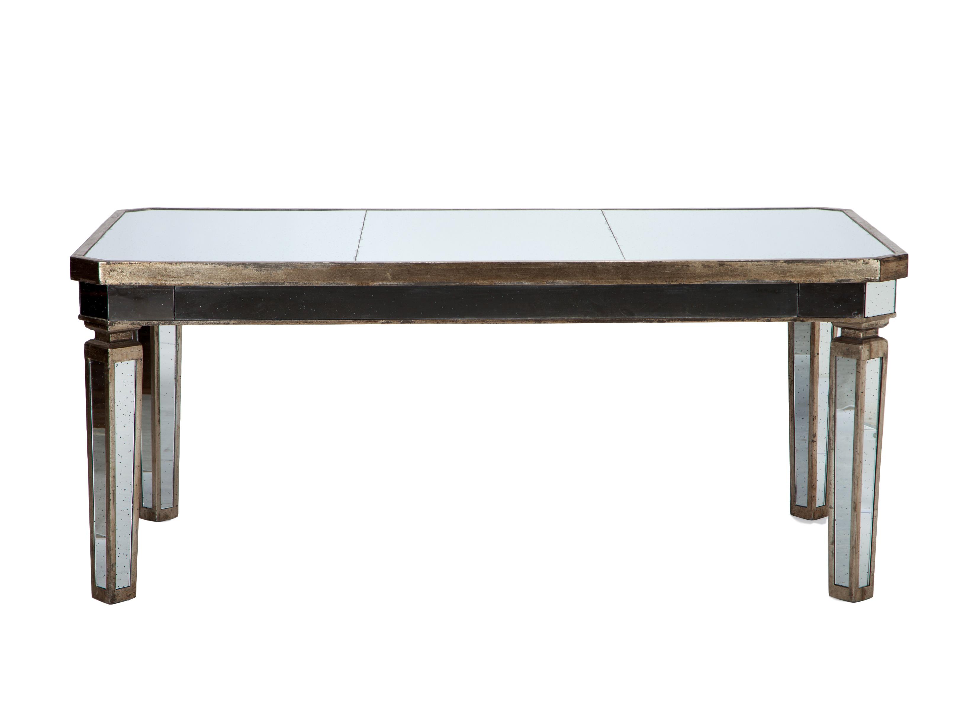 Стол зеркальныйОбеденные столы<br>Стол обеденный прямоугольный из состаренного зеркального стекла, украшен патиной и старением.&amp;lt;div&amp;gt;&amp;lt;br&amp;gt;&amp;lt;/div&amp;gt;&amp;lt;div&amp;gt;Материал: зеркальное стекло&amp;lt;br&amp;gt;&amp;lt;/div&amp;gt;<br><br>Material: Стекло<br>Length см: None<br>Width см: 182<br>Depth см: 102<br>Height см: 76