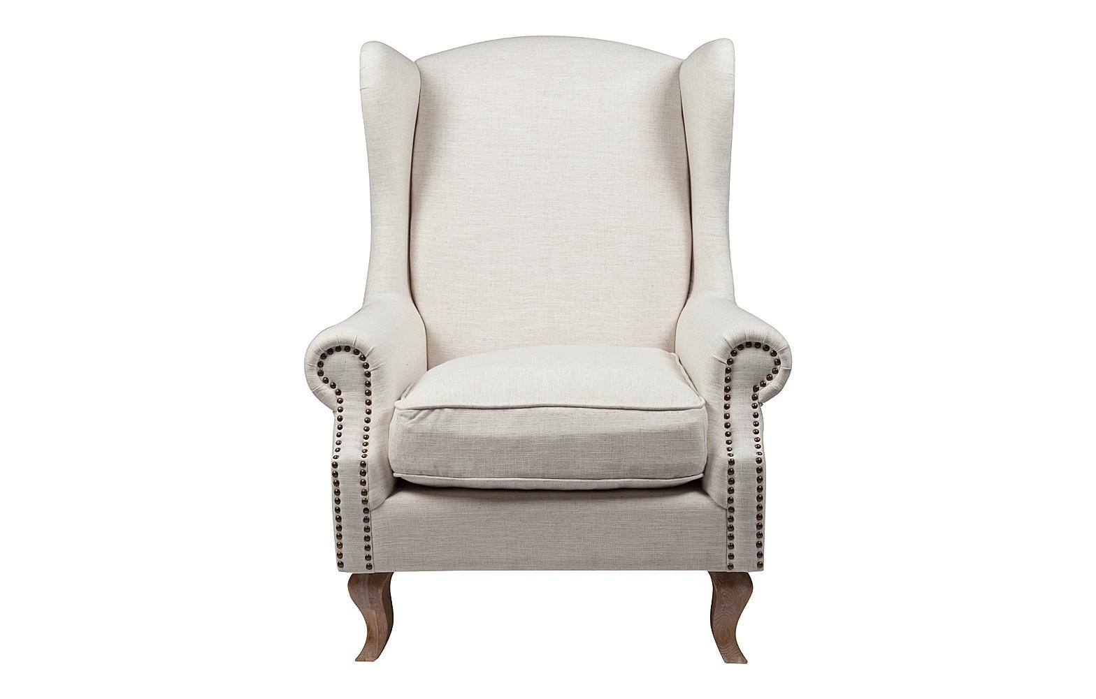 Кресло Collins Wingback ChairКресла с высокой спинкой<br><br><br>Material: Лен<br>Width см: 94<br>Depth см: 97<br>Height см: 114
