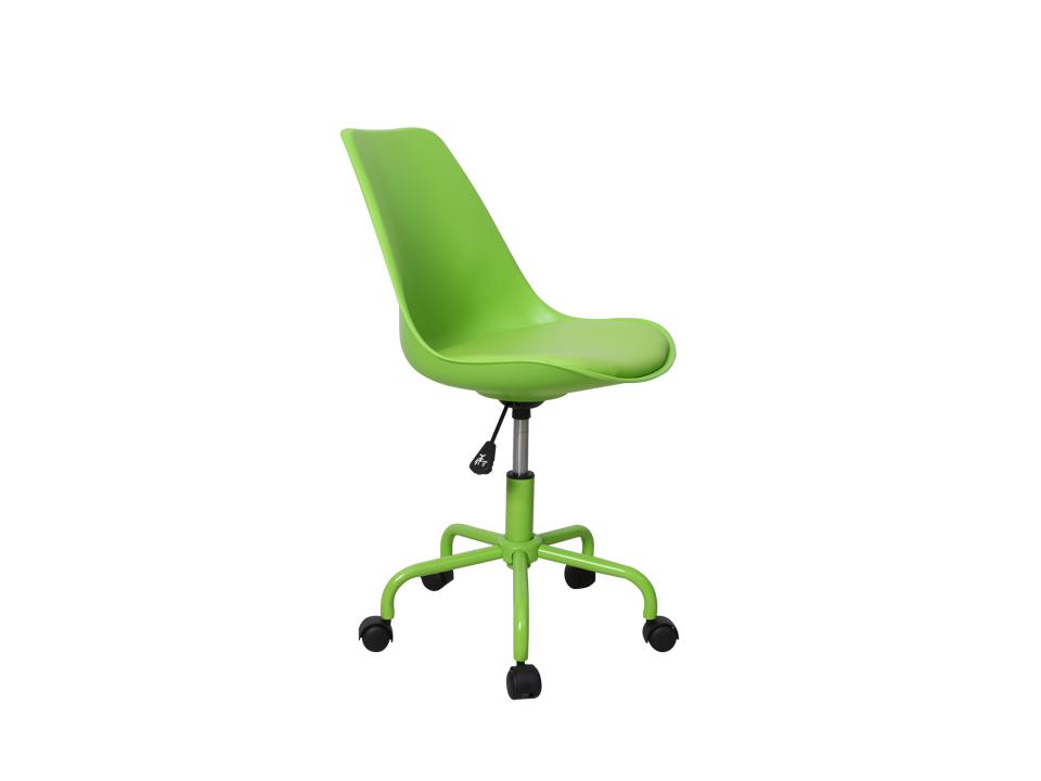 Стул RobertРабочие кресла<br>Стул рабочий вращающийся с регулятором высоты.  Спинка и сиденье выполнены из высококачественного пластика, сверху сиденья закреплена мягкая подушка. Спинка стула может наклоняться от давления веса тела. Металлическое основание с 5 колесами придает дополнительную устойчивость и мобильность.<br><br>Material: Пластик<br>Ширина см: 48<br>Высота см: 83<br>Глубина см: 55