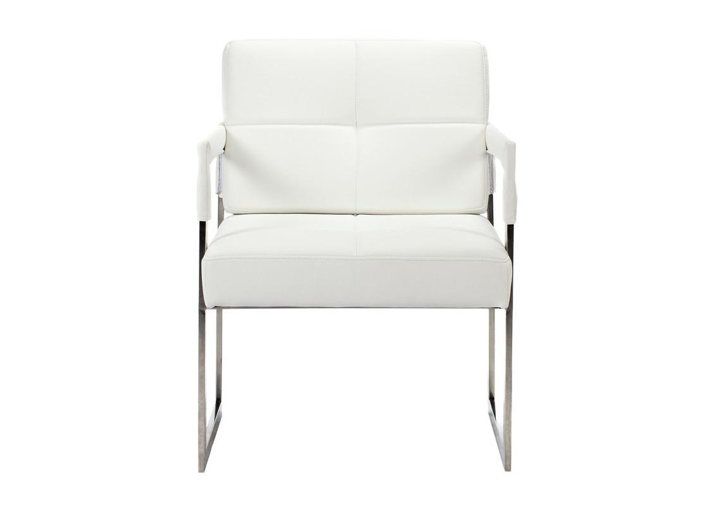 Кресло Aster PremiumКожаные кресла<br>Это кресло из белоснежной итальянской кожи прекрасно подойдет как для домашних комнат, так и для модного офисного интерьера. Элегантность, современность, шик достигаются благодаря сочетанию строгих геометрических линий, прямых углов, хромированных деталей и великолепной белой кожи. Сидеть в таком кресле несомненное удовольствие.<br><br>Обивка: натуральная итальянская кожа<br><br>Material: Кожа<br>Width см: 55<br>Depth см: 60<br>Height см: 89