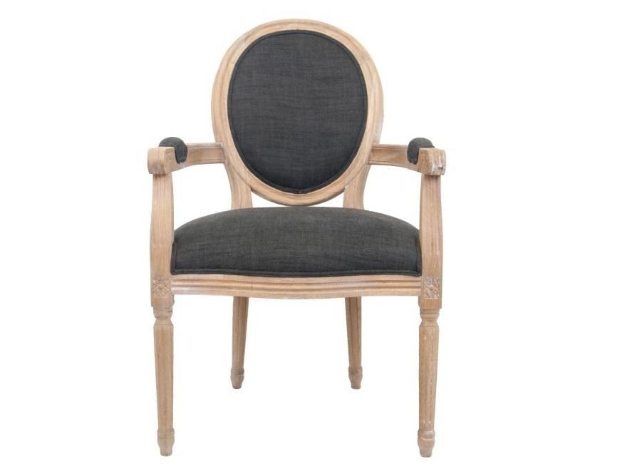 Полукресло DiellaСтулья с подлокотниками<br>Элегантное кресло Diella классического дизайна, его изящные подлокотники выполнены с применением резной работы по дереву. Модель с овальной спинкой в деревянной раме, украшенной резным элементом. Элегантное кресло с лаконичным размером отлично впишется в интерьер столовой, гостиной или кабинета.<br><br>Material: Дуб<br>Width см: 62<br>Depth см: 68<br>Height см: 98