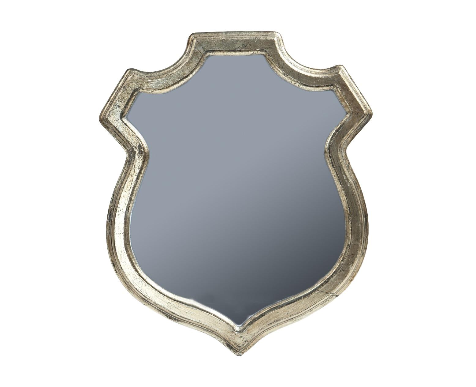 Зеркало ГеральдикаНастенные зеркала<br>Состаренное настенное зеркало в форме геральдического щита.<br><br>Material: МДФ<br>Width см: 51<br>Height см: 60
