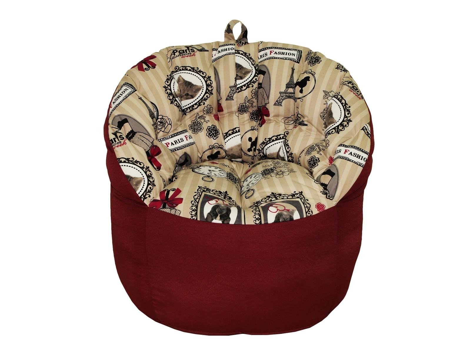 Кресло-пуф ФранцияКресла-мешки<br>Комфортное кресло-пуф станет неотъемлемой частью вашего дома. Спинка кресла держит форму и обеспечивает круговую поддержку для спины за счет особой системы пошива. Кресло имеет 2 независимых отсека для наполнителя. Эксклюзивная   ткань разбавит ваш интерьер яркими красками.<br><br>Material: Хлопок<br>Width см: 85<br>Depth см: 79<br>Height см: 91