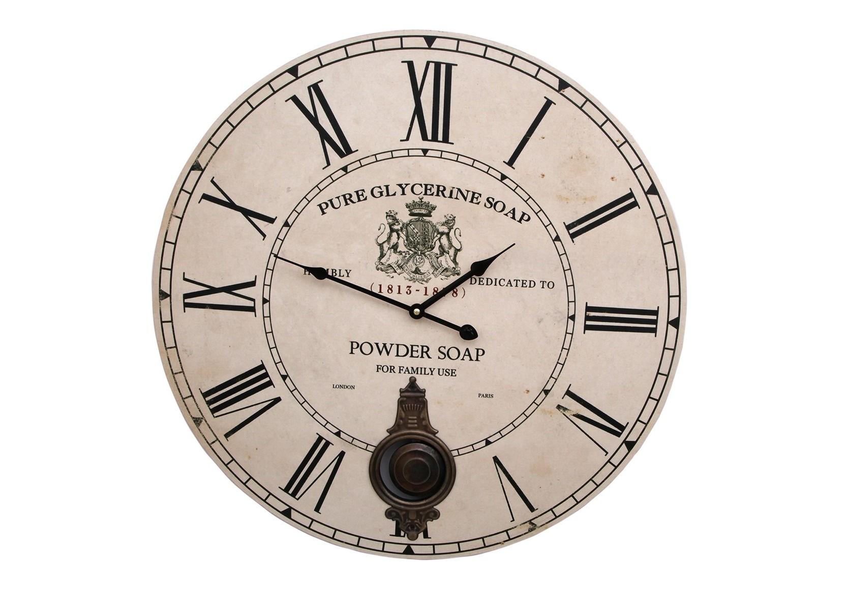 ЧасыНастенные часы<br>кварцевый механизм<br><br>Material: Дерево<br>Высота см: 1