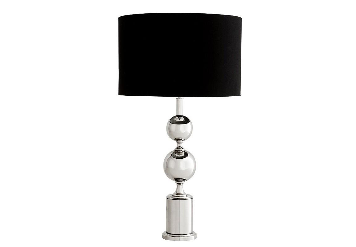 Настольная лампа ZephyrДекоративные лампы<br>Настольная лампа из коллекции Zephyr на никелированном основании с декоративными шарами. Текстильный абажур черного цвета скрывает лампу.&amp;lt;div&amp;gt;&amp;lt;br&amp;gt;&amp;lt;/div&amp;gt;&amp;lt;div&amp;gt;&amp;lt;div&amp;gt;Цоколь: E14&amp;lt;/div&amp;gt;&amp;lt;div&amp;gt;Мощность: 40W&amp;lt;/div&amp;gt;&amp;lt;div&amp;gt;Количество ламп: 1&amp;lt;/div&amp;gt;&amp;lt;/div&amp;gt;<br><br>Material: Металл<br>Ширина см: 45<br>Высота см: 78<br>Глубина см: 45
