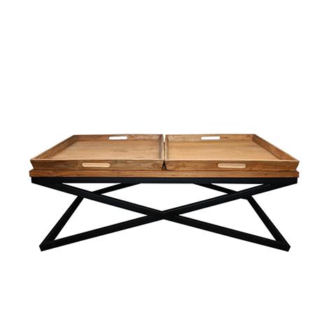 Стол ИндастриалЖурнальные столики<br>ROOMERS – это особенная коллекция, воплощение всего самого лучшего, модного и новаторского в мире дизайнерской мебели, предметов декора и стильных аксессуаров. Интерьерные решения от ROOMERS – всегда актуальны, более того, они - на острие моды. Коллекции ROOMERS тщательно отбираются и обновляются дважды в год специально для вас.<br><br>Material: Тик<br>Width см: 120<br>Depth см: 80<br>Height см: 45
