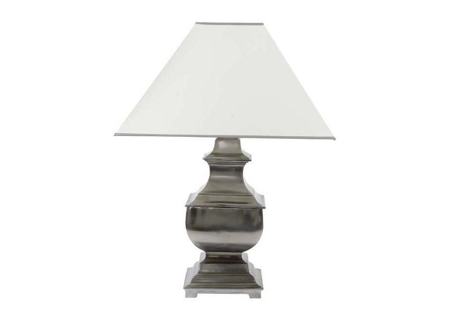 Настольная лампаДекоративные лампы<br>Lamp Hamnilton. Основание лампы из металла, цвет - оловянный. Абажур как на фото.&amp;lt;div&amp;gt;&amp;lt;br&amp;gt;&amp;lt;/div&amp;gt;&amp;lt;div&amp;gt;&amp;lt;div&amp;gt;Цоколь: E27&amp;lt;/div&amp;gt;&amp;lt;div&amp;gt;Мощность: 40W&amp;lt;/div&amp;gt;&amp;lt;div&amp;gt;Количество ламп: 1&amp;lt;/div&amp;gt;&amp;lt;/div&amp;gt;<br><br>Material: Металл<br>Ширина см: 55.0<br>Высота см: 71.0<br>Глубина см: 55.0