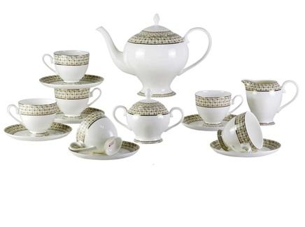 Чайный сервиз diela (17 шт.) (mak-interior) бежевый