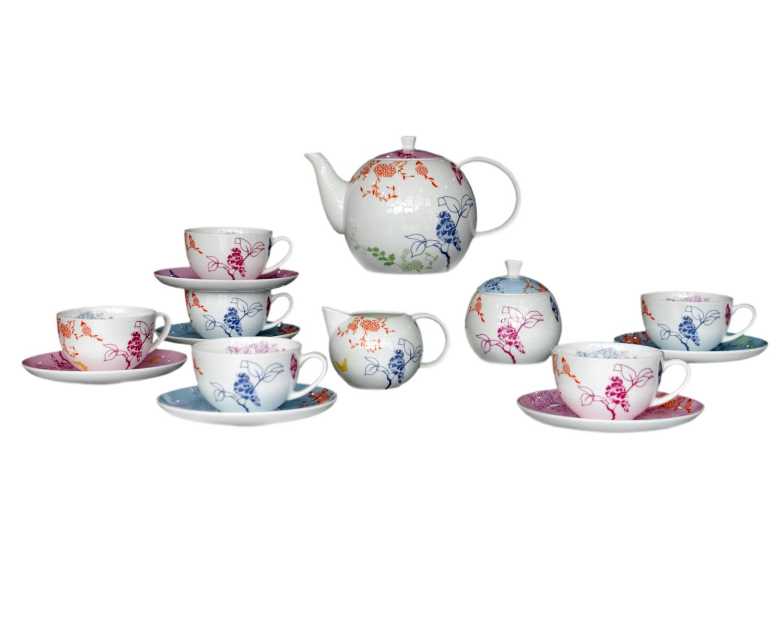 Чайный сервиз Sienna (17шт.)Чайные сервизы<br>Элегантный, яркий набор Sienna обязательно станет изюминкой Вашего чаепития! Он несомненно дополнит интерьер Вашей кухни и подчеркнет Ваш вкус.<br>&amp;amp;nbsp;&amp;amp;nbsp;&amp;lt;div&amp;gt;&amp;lt;br&amp;gt;&amp;lt;/div&amp;gt;&amp;lt;div&amp;gt;В сервиз входят:<br>&amp;amp;nbsp;&amp;amp;nbsp;&amp;lt;/div&amp;gt;&amp;lt;div&amp;gt;1 Заварочный чайник: высота &amp;amp;nbsp;c крышкой 14 &amp;amp;nbsp;см, ширина 24 см, глубина 14 см;<br>&amp;amp;nbsp;&amp;amp;nbsp;&amp;lt;/div&amp;gt;&amp;lt;div&amp;gt;6 блюдец: диаметр 15,6 см, высота 1,7 см<br>&amp;amp;nbsp;&amp;amp;nbsp;&amp;lt;/div&amp;gt;&amp;lt;div&amp;gt;6 чашек: высота&amp;amp;nbsp;&amp;lt;/div&amp;gt;&amp;lt;div&amp;gt;6 см, ширина: 11,5 см, глубина: 9,5 см<br>&amp;amp;nbsp;&amp;amp;nbsp;&amp;lt;/div&amp;gt;&amp;lt;div&amp;gt;1 сахарница: высота 6,6 см, ширина: 12,5 см,, глубина: 9 см<br>&amp;amp;nbsp;&amp;amp;nbsp;&amp;lt;/div&amp;gt;&amp;lt;div&amp;gt;1 сливочник: высота: 9,3 &amp;amp;nbsp;см, ширина 12,8 см, глубина: 7,5 см. &amp;amp;nbsp;&amp;amp;nbsp;&amp;lt;/div&amp;gt;&amp;lt;div&amp;gt;&amp;lt;br&amp;gt;&amp;lt;/div&amp;gt;&amp;lt;div&amp;gt;Материал Костяной фарфор&amp;amp;nbsp;&amp;lt;/div&amp;gt;<br><br>Material: Фарфор<br>Height см: 1,7<br>Diameter см: 15,6