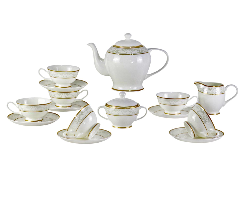 Чайный сервиз Marbella (17шт.)Чайные сервизы<br>Шикарный, классический столовый сервиз Marbella подойдет практически к любому интерьеру кухни. Такой набор не только облогородит интерьер стола, но и подчеркнет Ваш изысканный вкус и стиль.<br>&amp;amp;nbsp;&amp;amp;nbsp;&amp;lt;div&amp;gt;&amp;lt;br&amp;gt;&amp;lt;/div&amp;gt;&amp;lt;div&amp;gt;В сервиз входят:<br>&amp;amp;nbsp;&amp;amp;nbsp;&amp;lt;/div&amp;gt;&amp;lt;div&amp;gt;1 Заварочный чайник: высота &amp;amp;nbsp;c крышкой 17,5 &amp;amp;nbsp;см, ширина 25,5 см, глубина 14 см;<br>&amp;amp;nbsp;&amp;amp;nbsp;&amp;lt;/div&amp;gt;&amp;lt;div&amp;gt;6 блюдец: диаметр 15 см, высота 1,8 см<br>&amp;amp;nbsp;&amp;amp;nbsp;&amp;lt;/div&amp;gt;&amp;lt;div&amp;gt;6 чашек: высота 6 см, ширина: 12,6 см, глубина: 10,3 см<br>&amp;amp;nbsp;&amp;amp;nbsp;&amp;lt;/div&amp;gt;&amp;lt;div&amp;gt;1 сахарница: высота 10,3 см, ширина: 14 см,, глубина: 10 см<br>&amp;amp;nbsp;&amp;amp;nbsp;&amp;lt;/div&amp;gt;&amp;lt;div&amp;gt;1 сливочник: высота: 9,3 &amp;amp;nbsp;см, ширина 12,8 см, глубина: 7,5 см.&amp;amp;nbsp;&amp;lt;/div&amp;gt;&amp;lt;div&amp;gt;&amp;lt;br&amp;gt;&amp;lt;/div&amp;gt;&amp;lt;div&amp;gt;Материал Костяной фарфор&amp;lt;/div&amp;gt;<br><br>Material: Фарфор<br>Height см: None<br>Diameter см: None