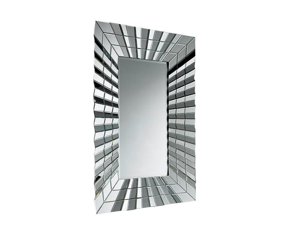 ЗеркалоНастенные зеркала<br>Зеркало прямоугольное в раме из зеркальных плиссированных складок.<br><br>Material: Стекло<br>Ширина см: 100.0<br>Высота см: 150.0<br>Глубина см: 11.0