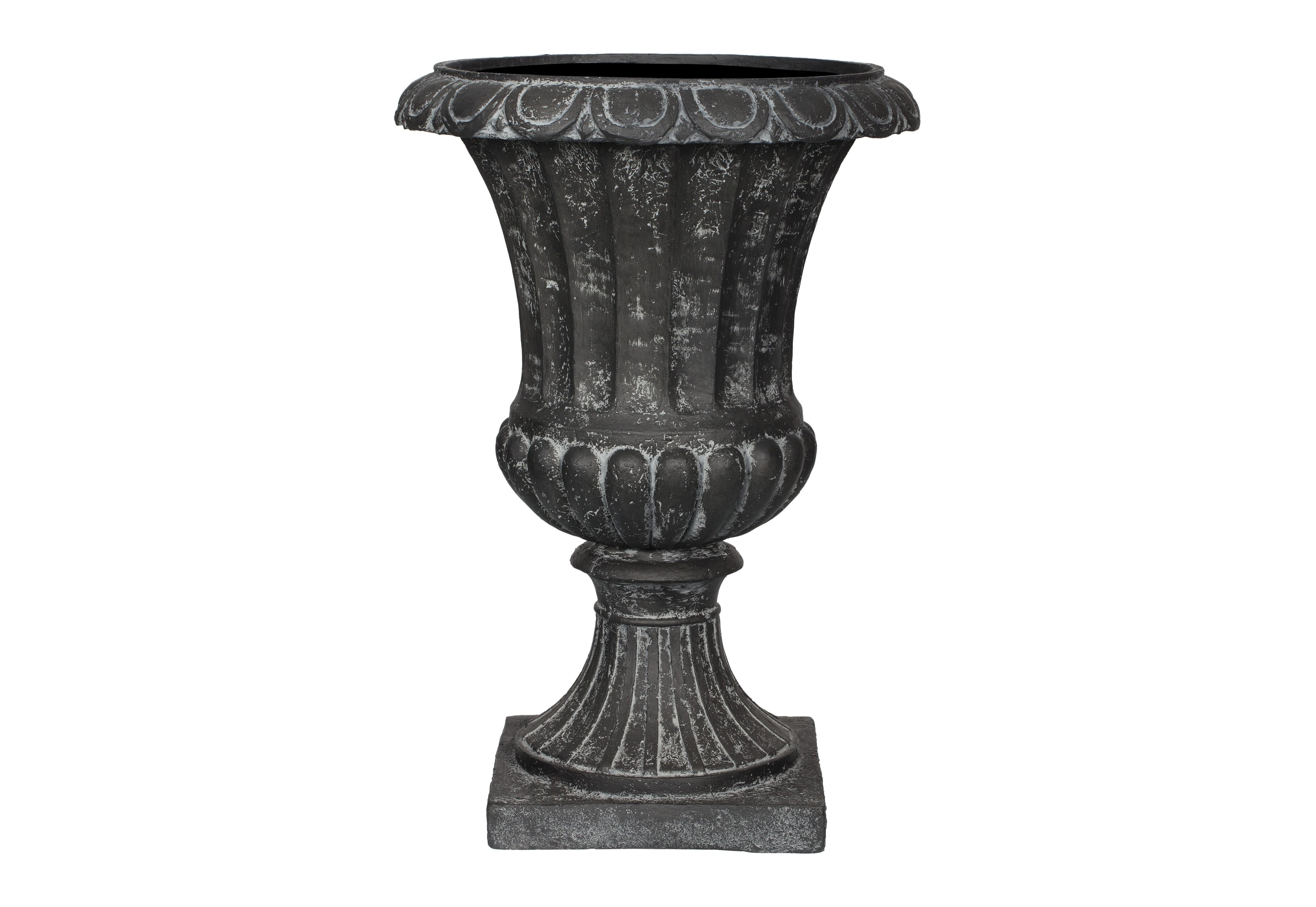 Ваза ГРАССКашпо и вазы для сада<br>CAPI CLASSIC – это вазы в классическом французском стиле.  Вазы отличаются  декоративной каймой с изысканным цветочным узором.  <br>Коллекцию дополняют пьедесталы, с которыми вазы прекрасно согласуются и величественно выглядят рядом с входной дверью или на классической террасе.  Комплекты из ваз не только позволяют создать  красивую композицию, но и значительно облегчают уход за растениями. С их помощью легко расставить акценты на тропинках, входе в дом или на террасе.<br>Вазы CAPI EUROPE не боятся перепадов температуры и влажности воздуха. Все вазы могут быть использованы в доме и на улице круглый год. На дне каждой вазы есть дренажное отверстие, что позволит уберечь  вазу в морозы.<br><br>Material: Полистоун<br>Length см: None<br>Width см: None<br>Height см: 50<br>Diameter см: 35