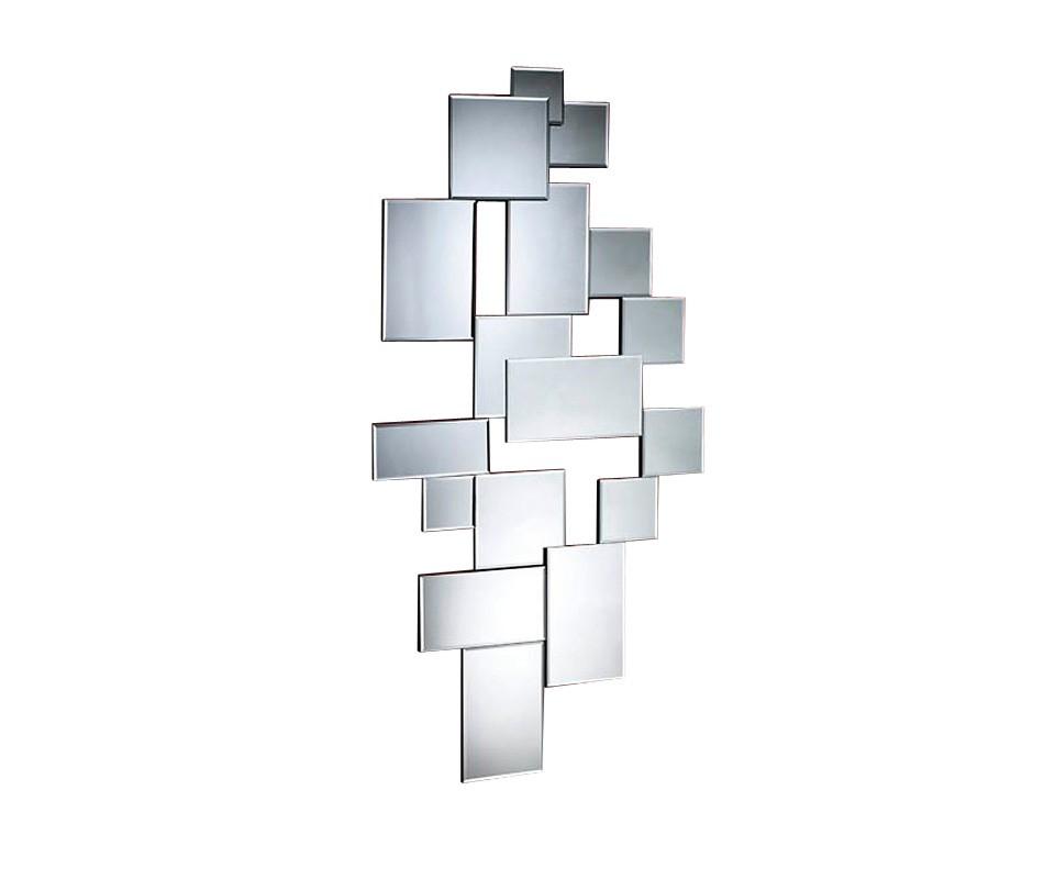 ЗеркалоНастенные зеркала<br>Зеркало из коллекции SITI состоит из отдельных зеркал различного размера с фаской на основе из дерева чёрного цвета.<br><br>Material: Дерево<br>Width см: 68<br>Depth см: 4<br>Height см: 140