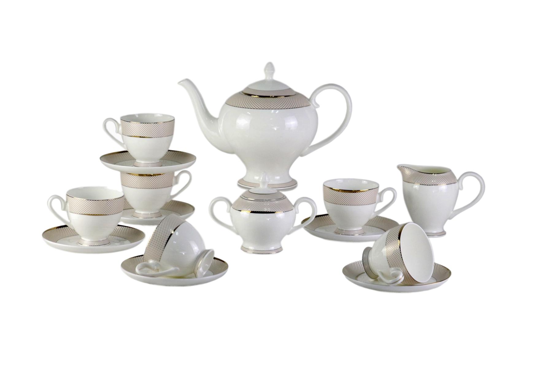 Чайный сервиз Bianko (17шт)Чайные сервизы<br>Этот нежный, обворожительный набор посуды станет элегантным столовым аксессуаром на Вашем столе. Его белый цвет отлично гармонирует с золотыми узорами. Такое удачное сочетание добавит тепла в Ваш интерьер.<br>&amp;amp;nbsp;&amp;amp;nbsp;&amp;lt;div&amp;gt;&amp;lt;br&amp;gt;&amp;lt;/div&amp;gt;&amp;lt;div&amp;gt;В сервиз входят:<br>&amp;amp;nbsp;&amp;amp;nbsp;&amp;lt;/div&amp;gt;&amp;lt;div&amp;gt;1 Заварочный чайник: высота &amp;amp;nbsp;c крышкой 21 см, ширина 28 см, глубина 15 см;<br>&amp;amp;nbsp;&amp;lt;/div&amp;gt;&amp;lt;div&amp;gt;6 блюдец: диаметр 15,5 см, высота 1,7 см;<br>&amp;amp;nbsp;&amp;amp;nbsp;&amp;lt;/div&amp;gt;&amp;lt;div&amp;gt;6 чашек: высота 8,3 см, ширина: 11,5 см, глубина: 9 см;<br>&amp;amp;nbsp;&amp;amp;nbsp;&amp;lt;/div&amp;gt;&amp;lt;div&amp;gt;1 сахарница: высота 12,7 см, ширина: 15,5, глубина: 9,5 см;<br>&amp;amp;nbsp;&amp;amp;nbsp;&amp;lt;/div&amp;gt;&amp;lt;div&amp;gt;1 сливочник: высота: 11 см, ширина 13 см, глубина: 8,2 см; &amp;amp;nbsp;&amp;amp;nbsp;&amp;lt;/div&amp;gt;&amp;lt;div&amp;gt;&amp;lt;br&amp;gt;&amp;lt;/div&amp;gt;&amp;lt;div&amp;gt;Материал Костяной фарфор&amp;lt;/div&amp;gt;<br><br>Material: Керамика<br>Width см: None<br>Depth см: None<br>Height см: None