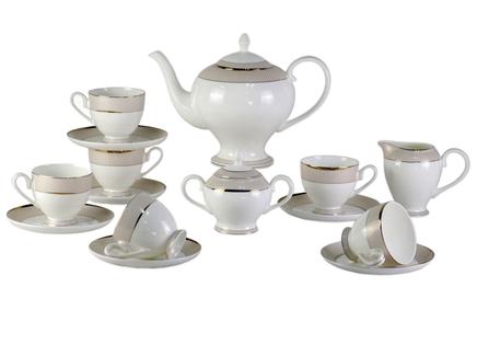 Чайный сервиз bianko (17шт) (mak-interior) золотой