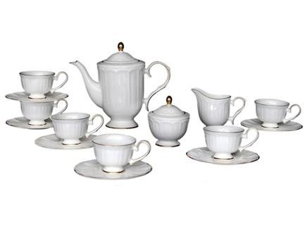 Чайный сервиз jardine (17шт) (mak-interior) белый