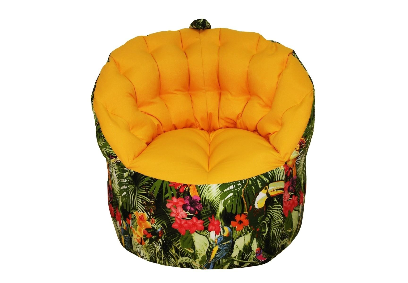 Кресло-пуфФорменные пуфы<br>Комфортное кресло-пуф станет неотьемлемой частью вашего дома. Спинка кресла держит форму и обеспечивает круговую поддержку для спины за счет особой системы пошива. Кресло имеет 2 независимых отсека для наполнителя. Эксклюзивная   ткань разбавит ваш интерьер яркими красками.<br><br>Material: Текстиль<br>Ширина см: 84<br>Высота см: 79<br>Глубина см: 91