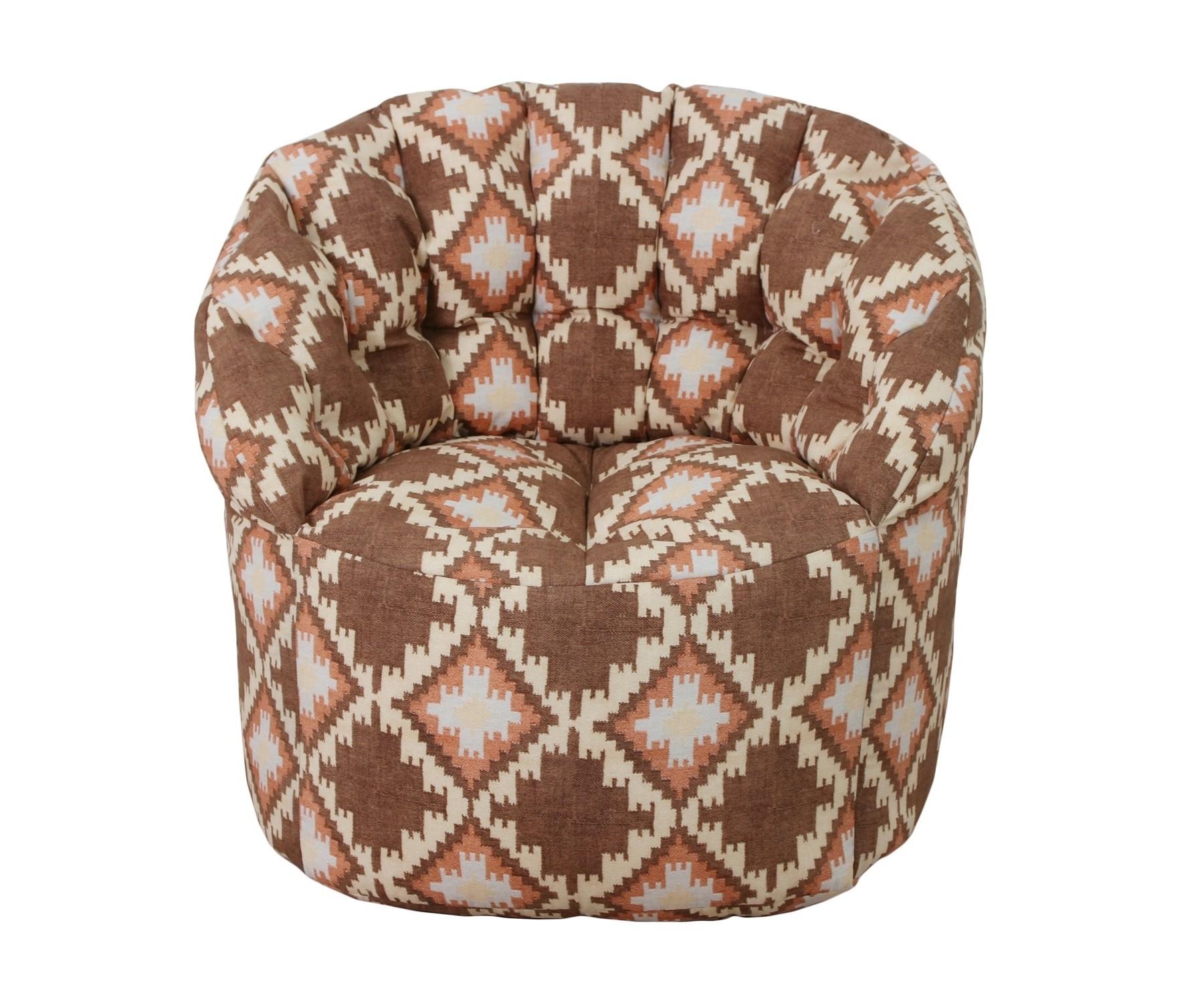 Кресло-пуфФорменные пуфы<br>Комфортное кресло-пуф станет неотьемлемой частью вашего дома. Спинка кресла держит форму и обеспечивает круговую поддержку для спины за счет особой системы пошива. Кресло имеет 2 независимых отсека для наполнителя. Эксклюзивная   ткань разбавит ваш интерьер яркими красками.<br><br>Material: Текстиль<br>Ширина см: 85<br>Высота см: 91<br>Глубина см: 56