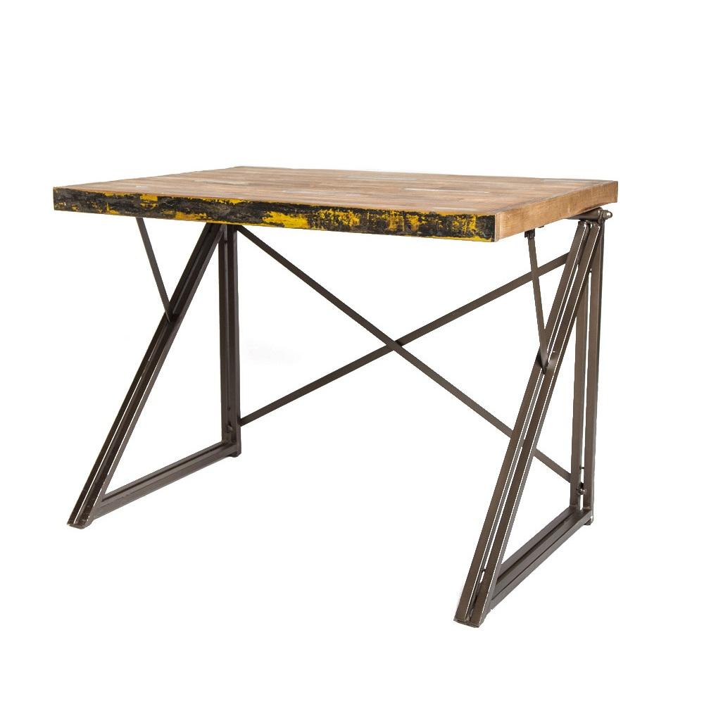 Стол письменный Sebb 100Письменные столы<br>Столешница из кусочков антикварного тика, металлические ноги.<br><br>Material: Тик<br>Length см: 100<br>Width см: 70<br>Height см: 75