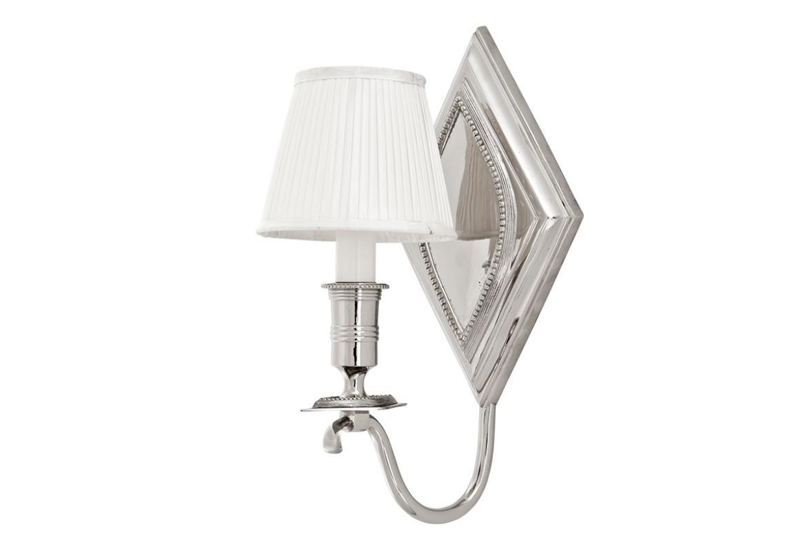 Бра Diamond SingleБра<br>Настенный светильник &amp;amp;nbsp;с текстильным плиссированным абажуром белого цвета. Цвет металла: никель.&amp;lt;div&amp;gt;&amp;lt;br&amp;gt;&amp;lt;/div&amp;gt;&amp;lt;div&amp;gt;&amp;lt;div&amp;gt;Цоколь: E14&amp;lt;/div&amp;gt;&amp;lt;div&amp;gt;Мощность: 40W&amp;lt;/div&amp;gt;&amp;lt;div&amp;gt;Количество ламп: 1&amp;lt;/div&amp;gt;&amp;lt;/div&amp;gt;<br><br>Material: Металл<br>Ширина см: 19<br>Высота см: 37<br>Глубина см: 19