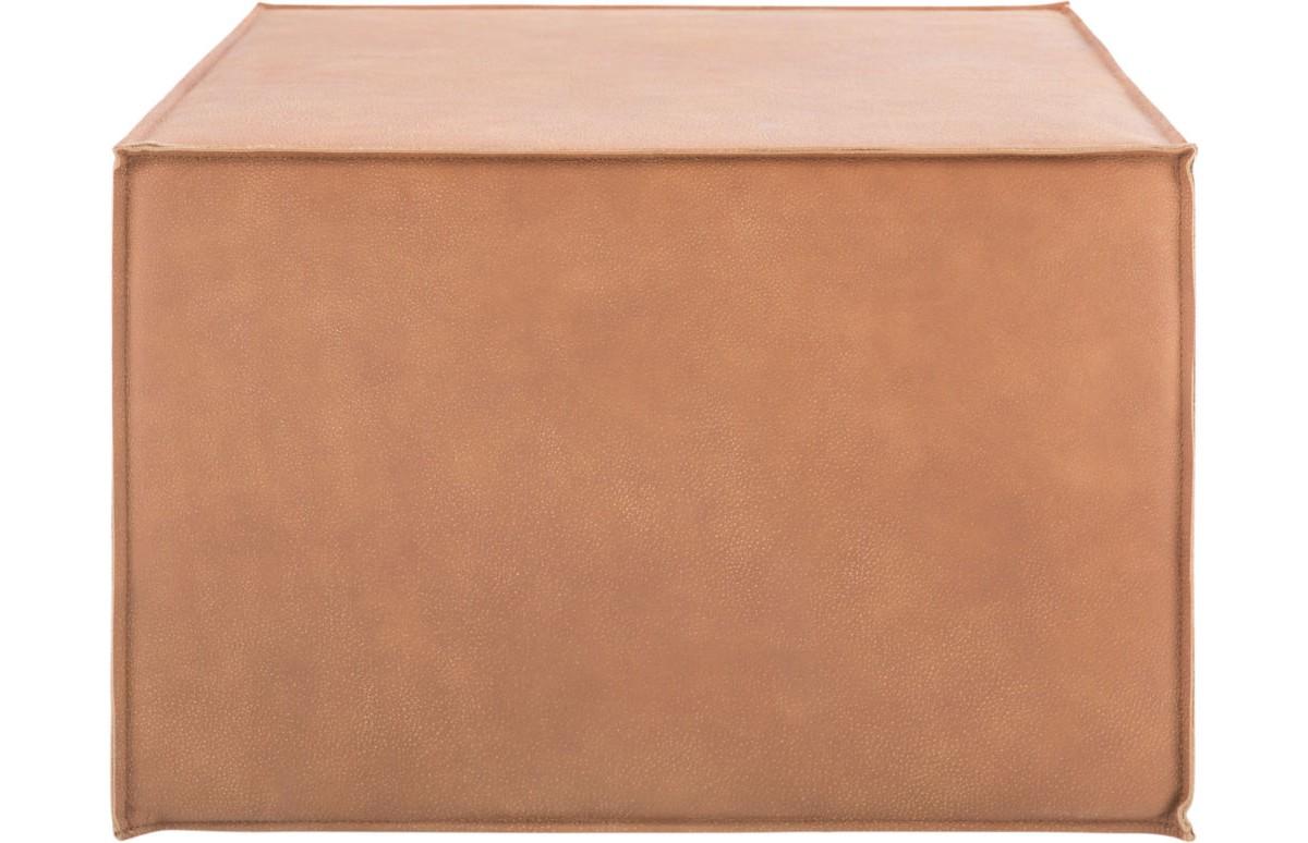 Пуф Ottoman SquareКожаные пуфы<br>Изысканный пуф благородного цвета придаст интерьеру утонченности. Выполненный из мягкой кожи, он подкупает своей простотой, но в то же время - строгостью формы и цветового исполнения. Пуф Ottoman легко впишется в любой интерьер, не нарушая гармонии, а лишь дополняя ее.<br><br>Material: Кожа<br>Ширина см: 60<br>Высота см: 40<br>Глубина см: 60