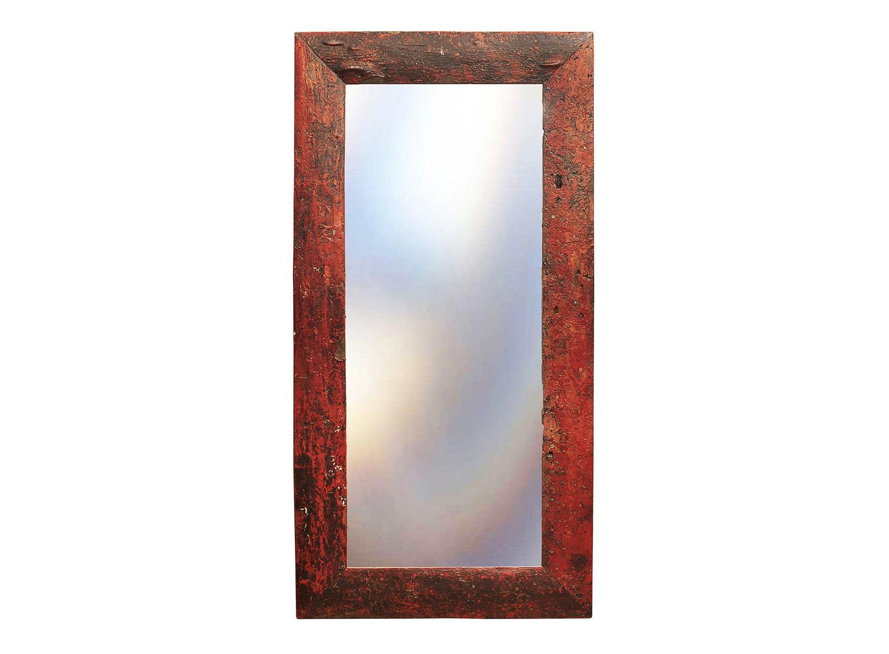 Зеркало Свет мой зеркальцеНастенные зеркала<br>Зеркало выполнено из фрагментов настоящего рыболовецкого судна, возраст которого 20-40 лет. Окрас сохранён оригинальный.<br><br>Material: Тик<br>Length см: None<br>Width см: 90<br>Depth см: 3<br>Height см: 180