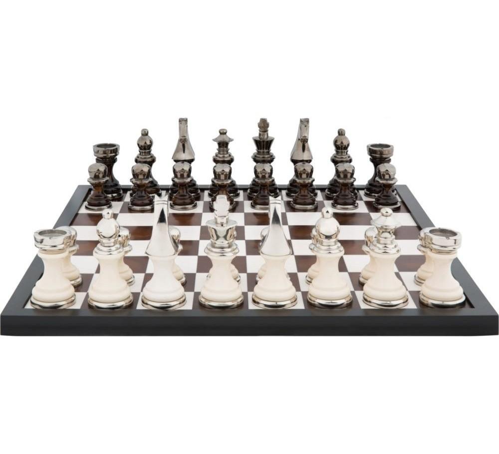 Шахматная доска с алюминиевыми фигурамиДругое<br><br><br>Material: Алюминий<br>Width см: 60<br>Depth см: 56<br>Height см: 15