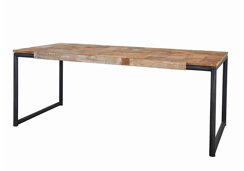 Стол обеденный PURE MОбеденные столы<br>Материал: массив тика, металл<br><br>Material: Тик<br>Ширина см: 250<br>Высота см: 78<br>Глубина см: 100