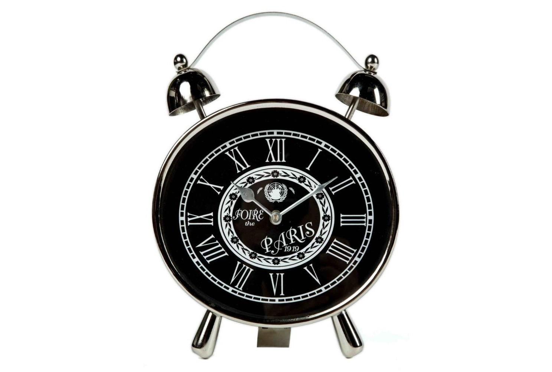 Часы настольныеНастольные часы<br>кварцевый механизм<br><br>Material: Металл<br>Ширина см: 23<br>Высота см: 28<br>Глубина см: 5