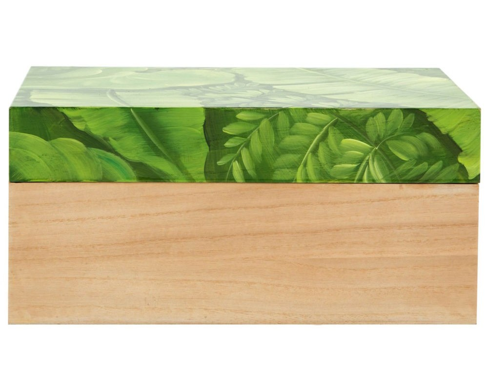 Шкатулка Leaves middleШкатулки<br><br><br>Material: Дерево<br>Ширина см: 28<br>Высота см: 13<br>Глубина см: 17