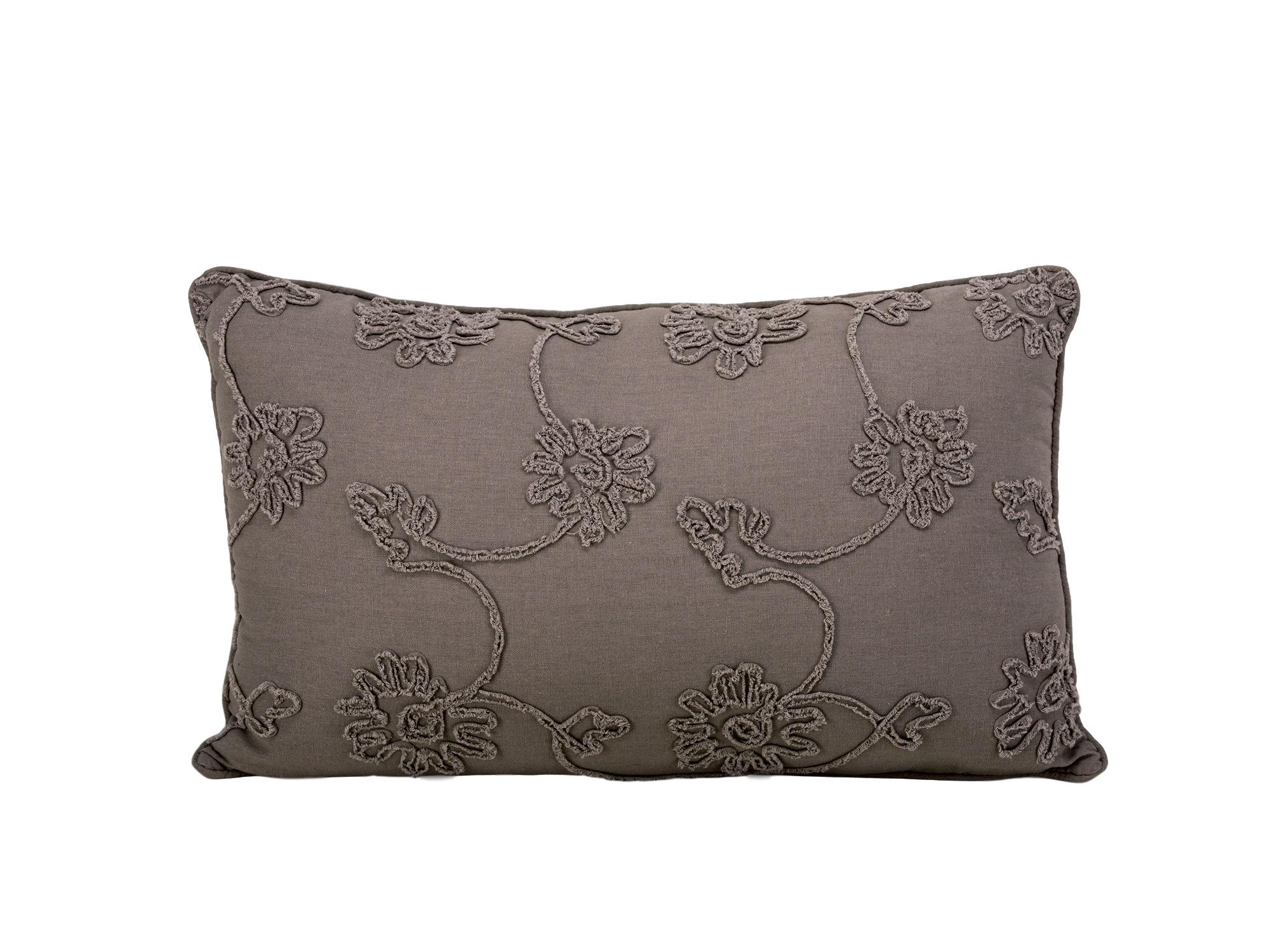 ПодушкаПрямоугольные подушки и наволочки<br>Прямоугольная декоративная подушка серого цвета.<br><br>Material: Текстиль<br>Ширина см: 64<br>Высота см: 39<br>Глубина см: 10