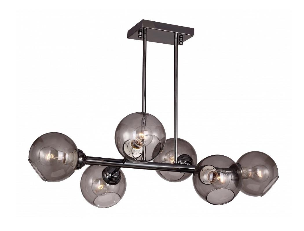 Люстра на штанге BolillasЛюстры на штанге<br>Вид цоколя: Е27Мощность лампы: 40WКоличество ламп: 6Гарантия: 24 мес.Способ крепления светильника к потолку: на монтажной пластине.Лампы в комплект не входят.Материал арматуры: металл.Материал плафонов и подвесок: стекло.<br><br>kit: None<br>gender: None
