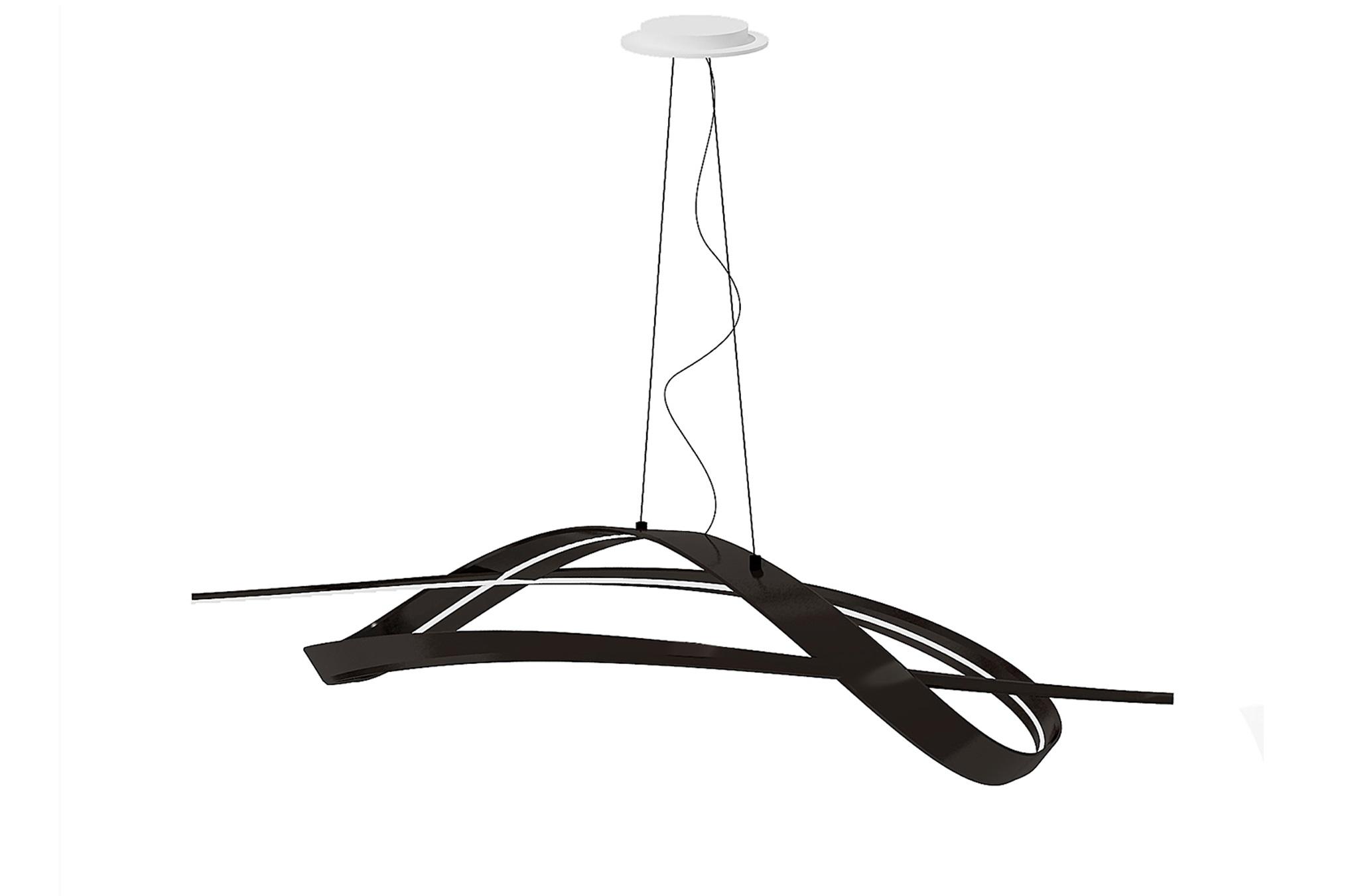 Подвесной светильник brazo l (actualdesign) черный 58.0x30.0x146.0 см.