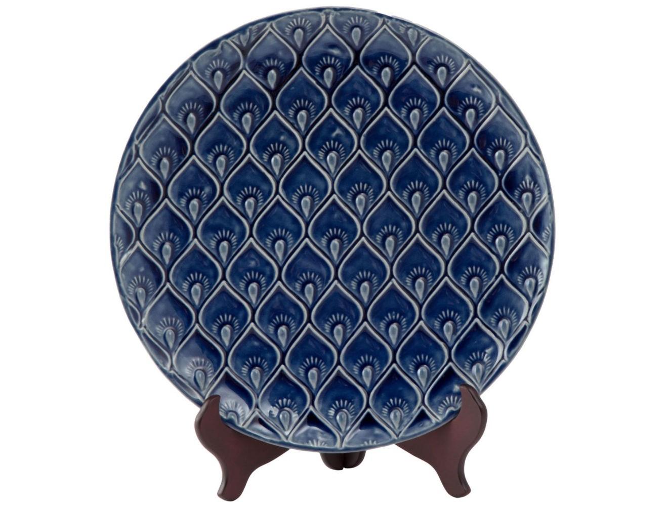 Тарелка декоративная PavoДекоративные тарелки<br><br><br>Material: Керамика<br>Width см: None<br>Depth см: None<br>Height см: 4<br>Diameter см: 40