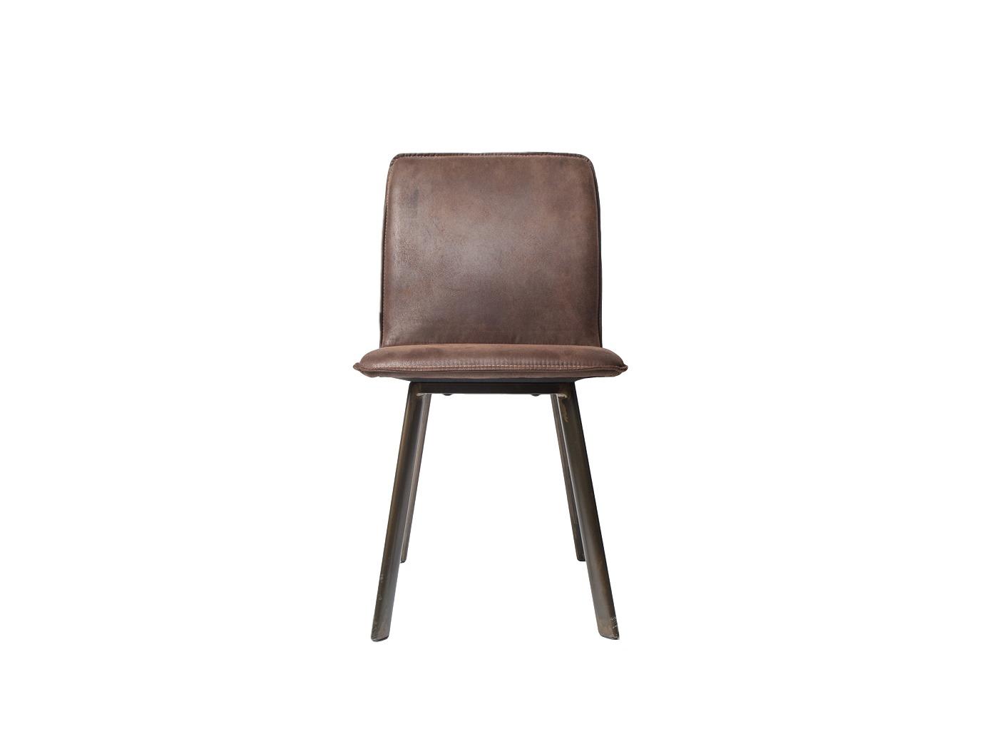 Стул BlackwaterОбеденные стулья<br>Простой и элегантный стул в стиле Loft с обивкой из высококачественной экозамши ( Recycled Leather)  цвет Blackwater Texas Brown на металлическом каркасе.&amp;lt;div&amp;gt;&amp;lt;br&amp;gt;&amp;lt;/div&amp;gt;&amp;lt;div&amp;gt;<br>Информация о комплекте&amp;lt;a href=&amp;quot;https://www.thefurnish.ru/shop/mebel/mebel-dlya-doma/komplekty-mebeli/66389-obedennaya-gruppa-vintage-stol-plius-4-stula&amp;quot;&amp;gt;&amp;lt;b&amp;gt;&amp;amp;gt;&amp;amp;gt; Перейти&amp;lt;/b&amp;gt;&amp;lt;/a&amp;gt;<br>&amp;lt;/div&amp;gt;<br><br>Material: Кожа<br>Length см: None<br>Width см: 47<br>Depth см: 56<br>Height см: 87<br>Diameter см: None