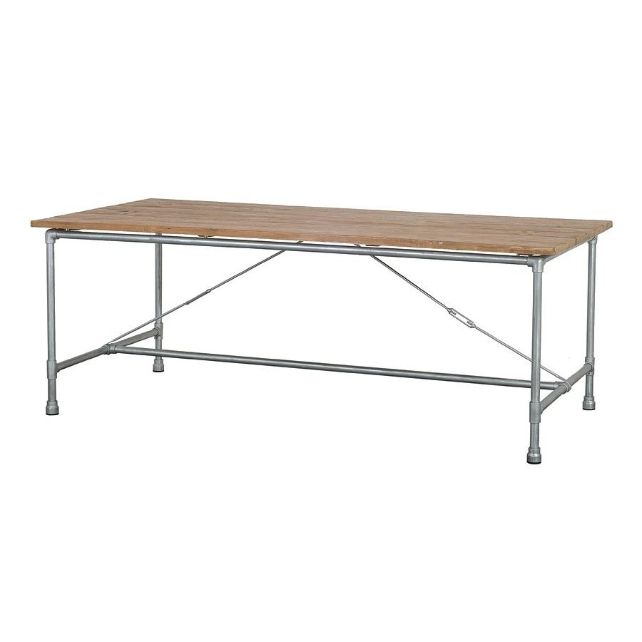 Стол обеденный TavoloОбеденные столы<br>Стильный обеденный стол в стиле лофт, ноги сделаны из металлических труб, столешница из антикварного тика.<br><br>Material: Тик<br>Length см: None<br>Width см: 140<br>Depth см: 90<br>Height см: 78<br>Diameter см: None