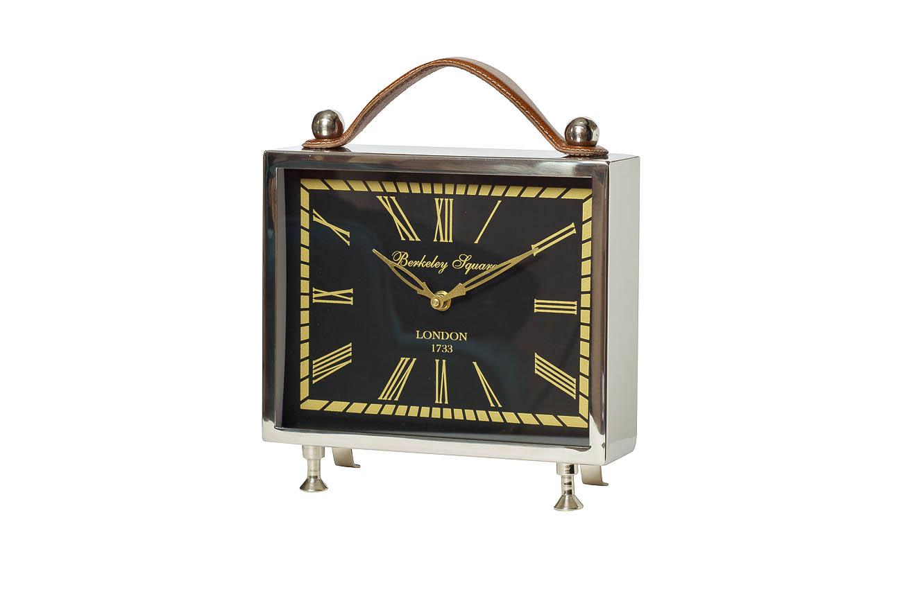 Часы настольныеНастольные часы<br>кварцевый механизм<br><br>Material: Алюминий<br>Width см: 26<br>Depth см: 8<br>Height см: 29,5