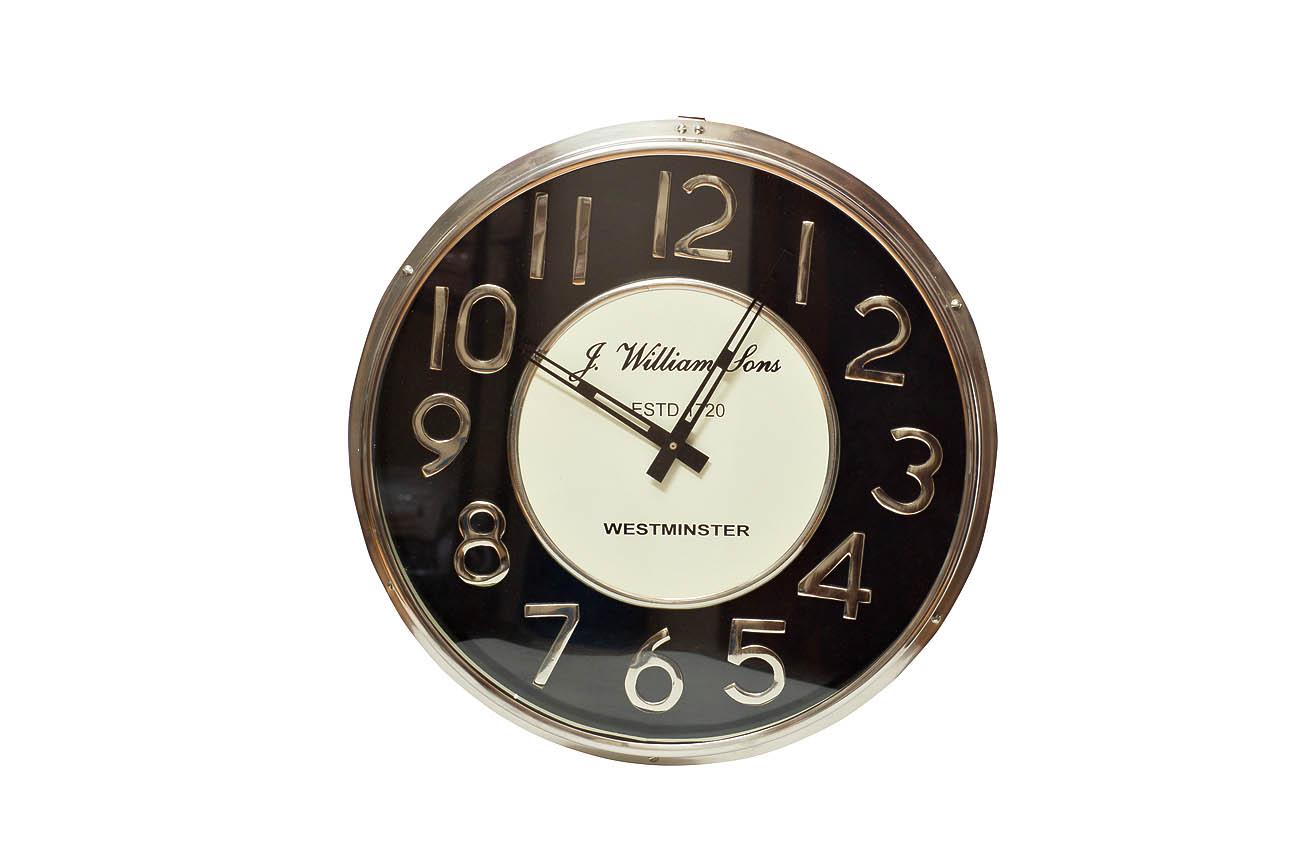 Часы настенныеНастенные часы<br>кварцевый механизм<br><br>Material: Алюминий<br>Глубина см: 4