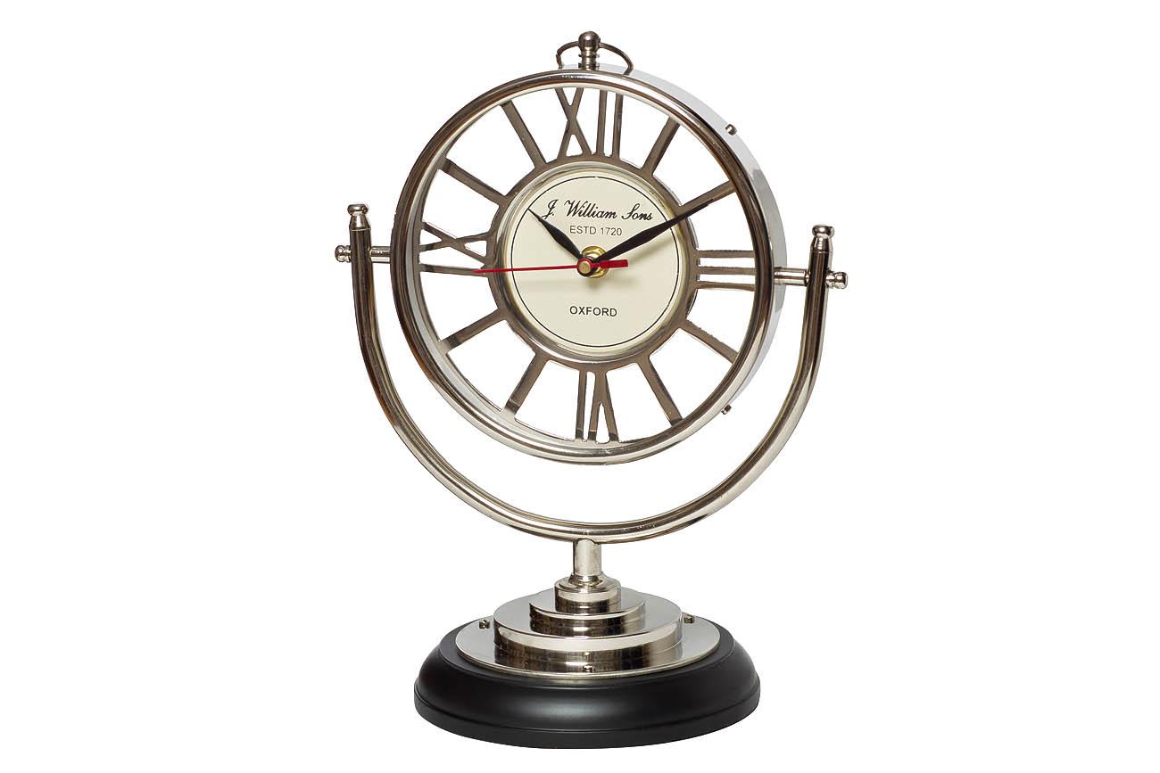 Часы настольныеНастольные часы<br>&amp;lt;span style=&amp;quot;font-size: 14px;&amp;quot;&amp;gt;кварцевый механизм&amp;lt;/span&amp;gt;<br><br>Material: Алюминий<br>Width см: 22<br>Depth см: 15<br>Height см: 27