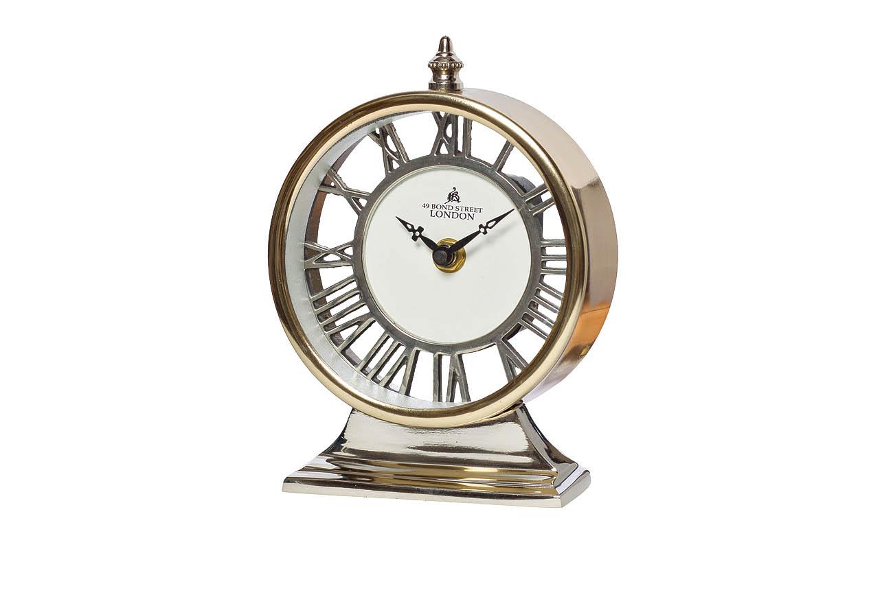 Часы настольныеНастольные часы<br>&amp;lt;span style=&amp;quot;font-size: 14px;&amp;quot;&amp;gt;кварцевый механизм&amp;lt;/span&amp;gt;<br><br>Material: Алюминий<br>Width см: 13<br>Depth см: 6,5<br>Height см: 17