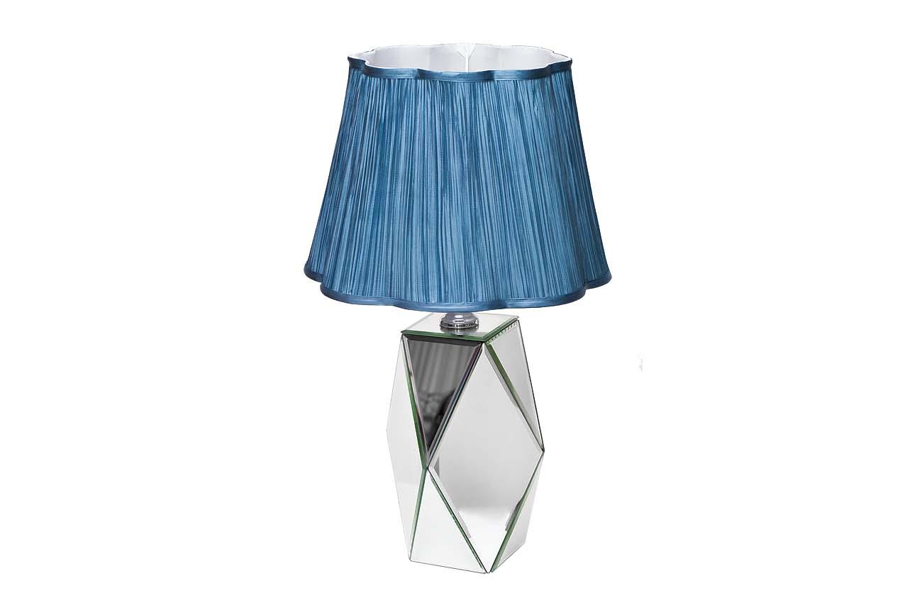 Лампа настольнаяДекоративные лампы<br>&amp;lt;div&amp;gt;&amp;lt;div&amp;gt;Цоколь: E27&amp;lt;/div&amp;gt;&amp;lt;div&amp;gt;Мощность: 40W&amp;lt;/div&amp;gt;&amp;lt;div&amp;gt;Количество ламп: 1&amp;lt;/div&amp;gt;&amp;lt;/div&amp;gt;Материал: Плафон - ткань, ножка - МДФ с зеркальным покрытием<br><br>Material: МДФ<br>Height см: 60<br>Diameter см: 38