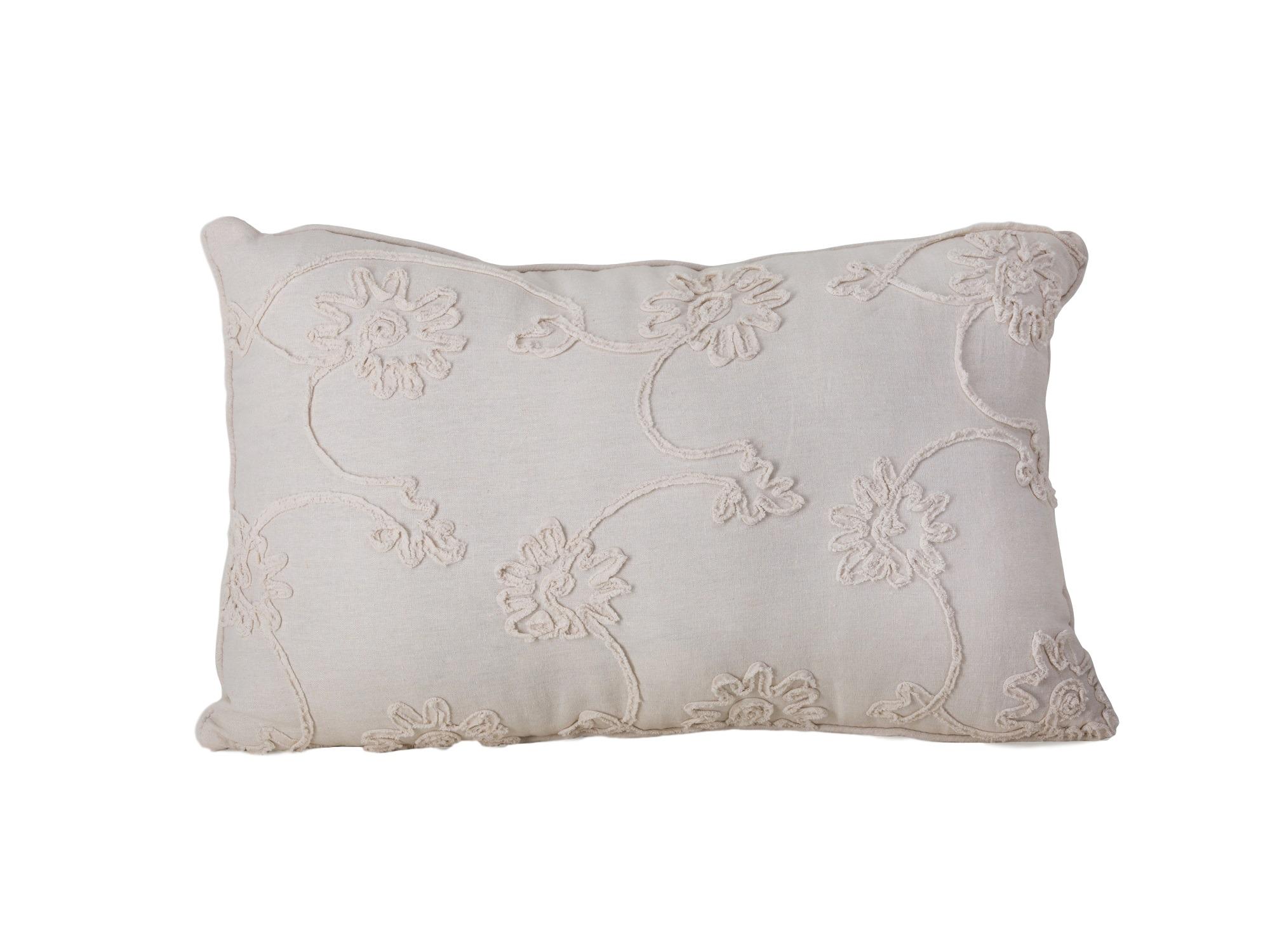 ПодушкаПрямоугольные подушки и наволочки<br>Прямоугольная декоративная подушка белого цвета.<br><br>Material: Текстиль<br>Ширина см: 64<br>Высота см: 39<br>Глубина см: 10