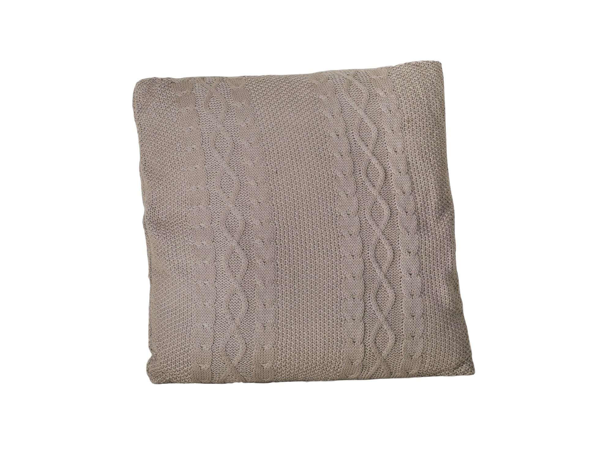 Подушка вязанаяКвадратные подушки и наволочки<br>Подушка декоративная квадратная в вязаном чехле<br><br>Material: Текстиль<br>Width см: 55<br>Depth см: 10<br>Height см: 55