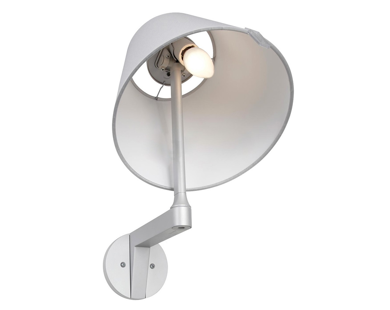 Настенный светильник MELAMPO PARETEБра<br>&amp;lt;div&amp;gt;Настенный светильник MELAMPO PARETE с выключателем. Светильник выполнен из металла серо-бежевого цвета. Тканевый абажур скрывает лампу. Плафон можно вращать, регулируя световой поток.&amp;lt;/div&amp;gt;&amp;lt;div&amp;gt;&amp;lt;br&amp;gt;&amp;lt;/div&amp;gt;&amp;lt;div&amp;gt;Дизайн: Adrien Gardere.&amp;lt;br&amp;gt;&amp;lt;/div&amp;gt;&amp;lt;div&amp;gt;&amp;lt;br&amp;gt;&amp;lt;/div&amp;gt;&amp;lt;div&amp;gt;Вид цоколя: E14&amp;lt;/div&amp;gt;&amp;lt;div&amp;gt;Мощность лампы: 42W&amp;lt;/div&amp;gt;&amp;lt;div&amp;gt;Количество ламп: 1&amp;lt;/div&amp;gt;<br><br>Material: Металл<br>Width см: 23<br>Depth см: 30<br>Height см: 35