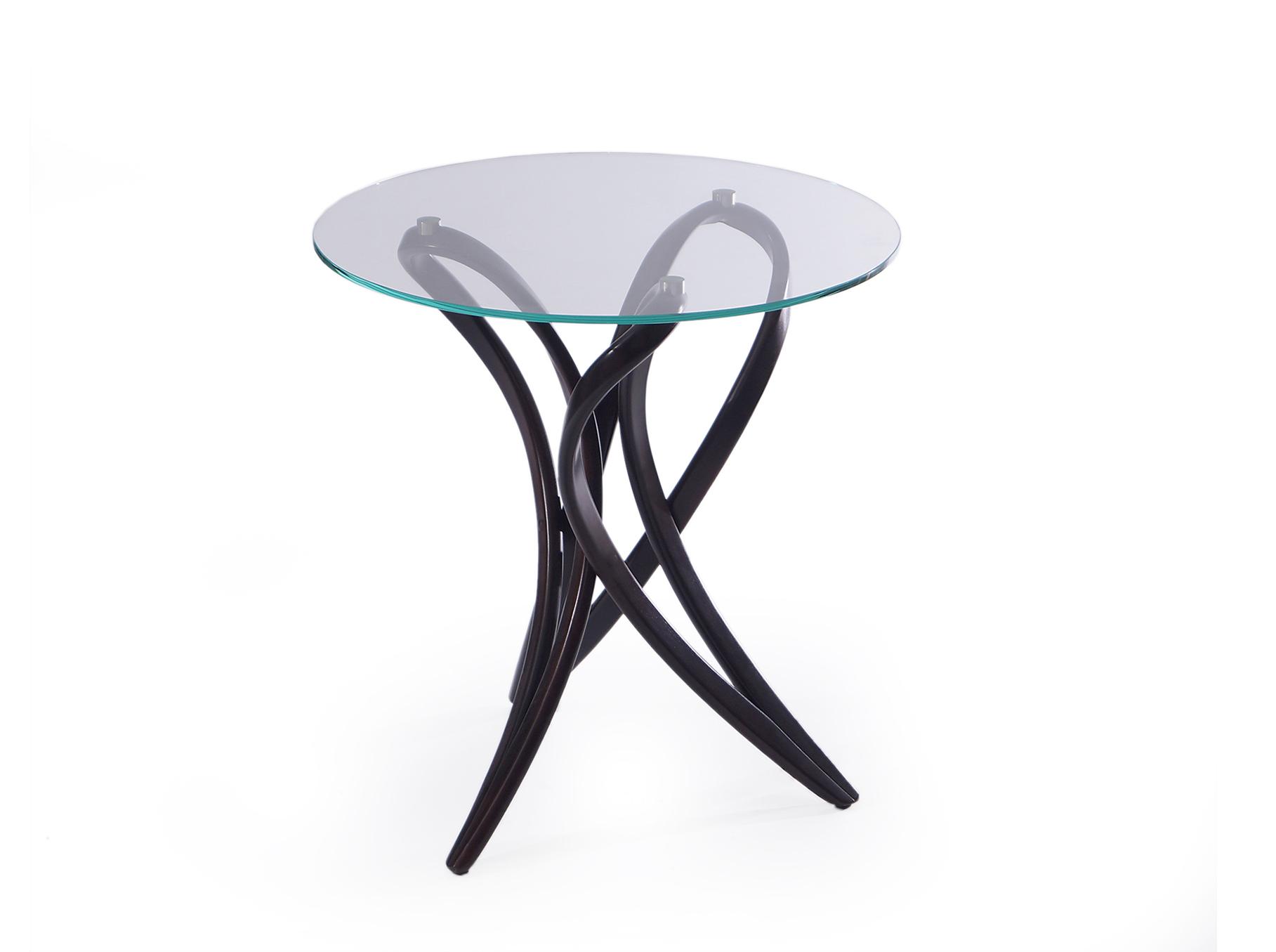 """Стол кофейный Apriori VКофейные столики<br>&amp;lt;div&amp;gt;Стол кофейный с основанием из гнутого дерева из асимметричной коллекции. Хорошо сочетается со стульям серии """"Brazo"""" . В интерьере может использоваться как небольшой обеденный стол.&amp;amp;nbsp;&amp;lt;/div&amp;gt;&amp;lt;div&amp;gt;&amp;lt;br&amp;gt;&amp;lt;/div&amp;gt;&amp;lt;div&amp;gt;Материал: натуральное дерево береза (9тон венге).&amp;lt;/div&amp;gt;<br><br>Material: Стекло<br>Length см: None<br>Width см: None<br>Height см: 75<br>Diameter см: 70"""