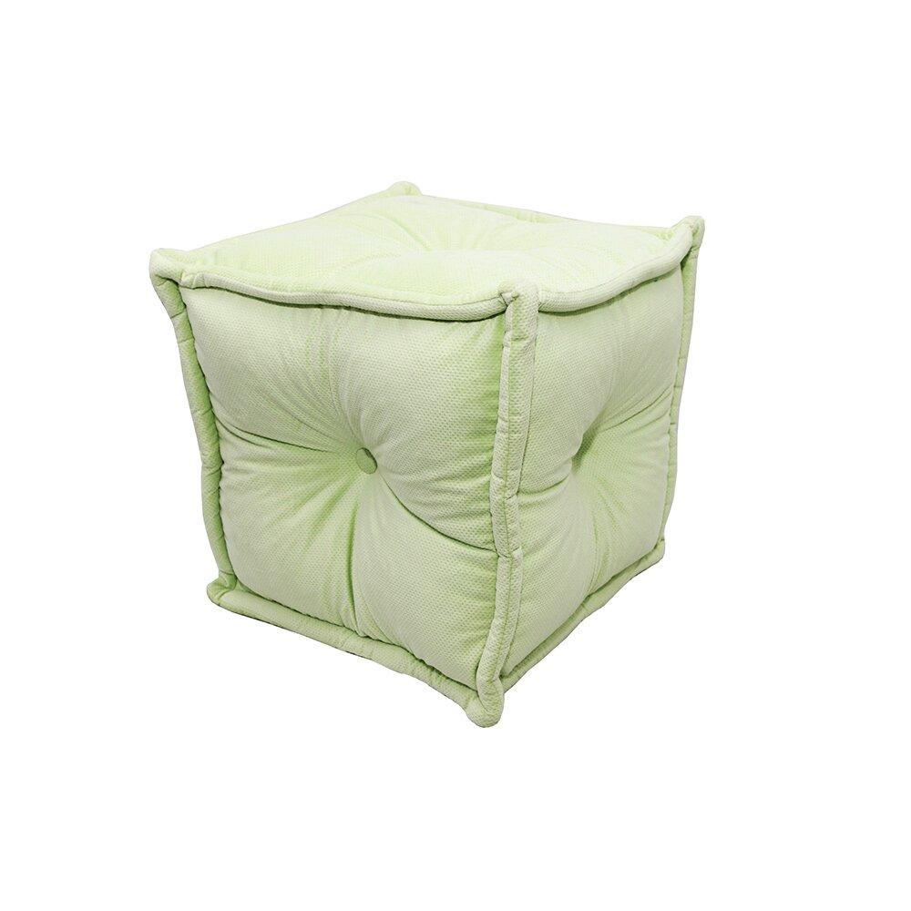 Пуф квадратный с отстрочкой и пуговичками Весенняя листваФорменные пуфы<br><br><br>Material: Текстиль<br>Width см: 40<br>Depth см: 40<br>Height см: 40