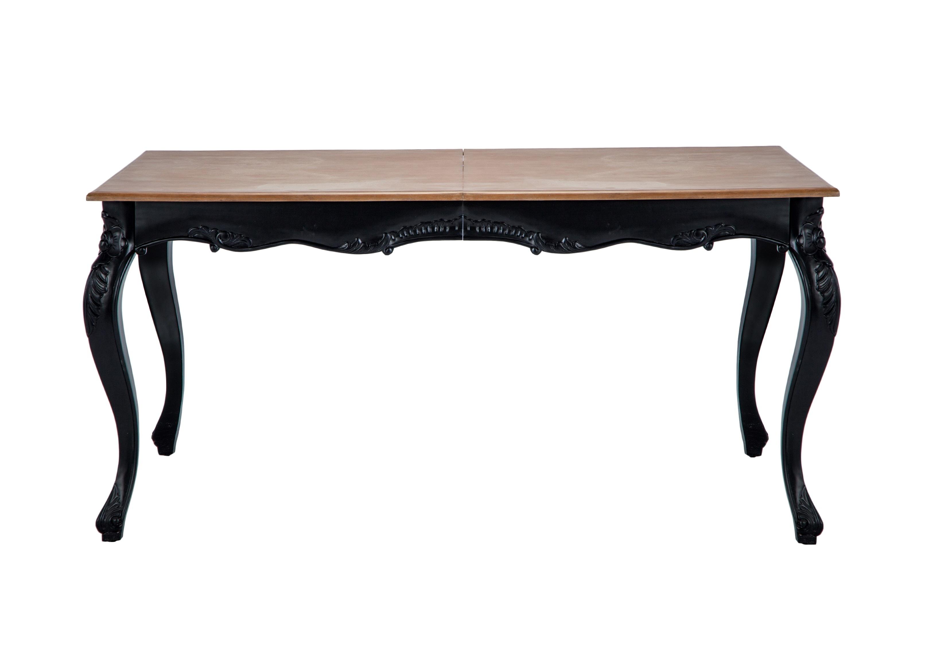 Стол обеденный ЛуиОбеденные столы<br>Стол обеденный прямоугольный раздвижной из дерева махагони, украшен резьбой ручной работы. Столешница декорирована шпоном дерева минди.<br><br>Material: Красное дерево<br>Ширина см: 163<br>Высота см: 80<br>Глубина см: 113