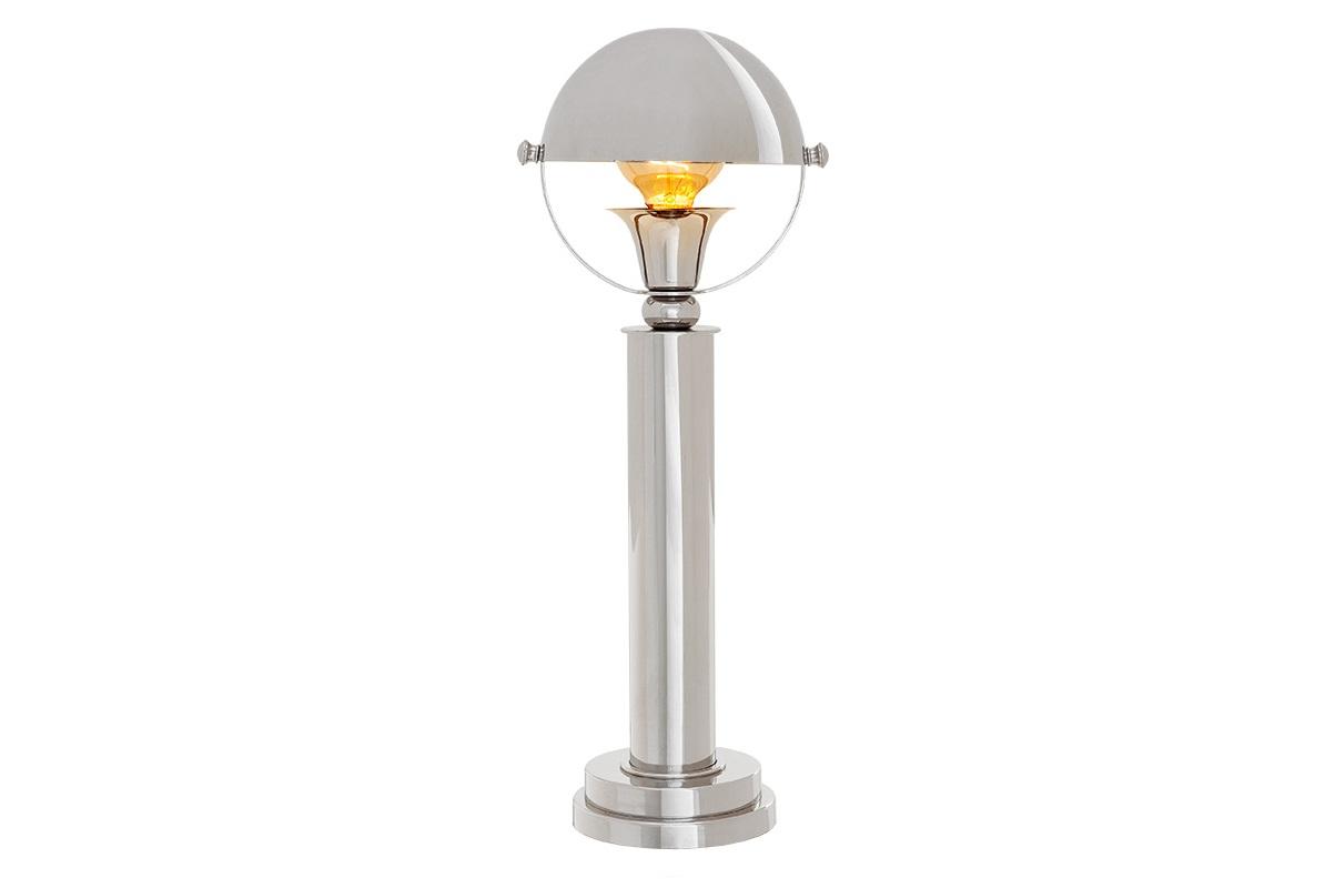 Настольная лампа BancorpДекоративные лампы<br>Настольная лампа Bancorp с полузакрытым металлическим плафоном. Дизайн выполнен в виде оригинального уличного фонаря.&amp;amp;nbsp;&amp;lt;div&amp;gt;&amp;lt;br&amp;gt;&amp;lt;/div&amp;gt;&amp;lt;div&amp;gt;&amp;lt;div&amp;gt;Вид цоколя: E27&amp;lt;/div&amp;gt;&amp;lt;div&amp;gt;Мощность: 60W&amp;lt;/div&amp;gt;&amp;lt;div&amp;gt;Количество ламп: 1&amp;lt;/div&amp;gt;&amp;lt;/div&amp;gt;&amp;lt;div&amp;gt;Цвет металла: никель.&amp;lt;/div&amp;gt;<br><br>Material: Металл<br>Height см: 51<br>Diameter см: 18