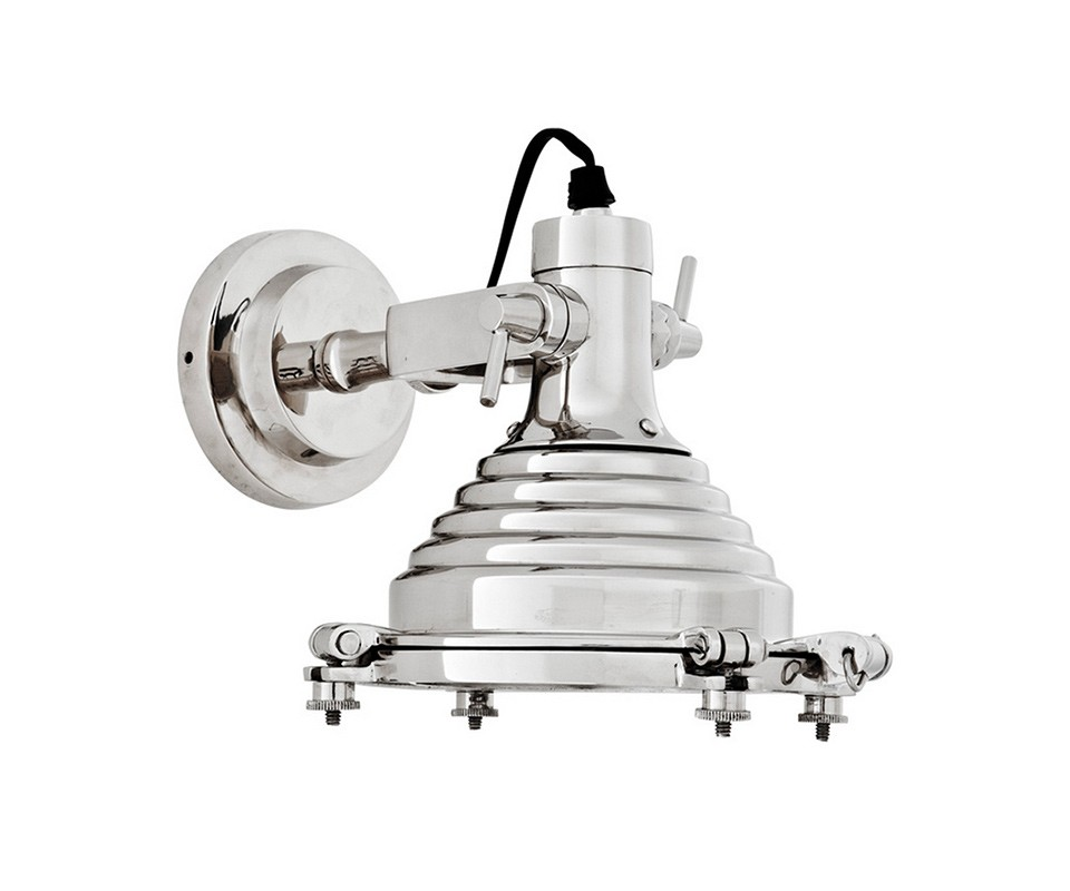 БраБра<br>Настенный светильник Maritime выполнен из никелированного металла. Имеет оригинальный дизайн. Направление света регулируется за счет специальных креплений.&amp;lt;div&amp;gt;&amp;lt;br&amp;gt;&amp;lt;/div&amp;gt;&amp;lt;div&amp;gt;&amp;lt;div&amp;gt;Цоколь: E14&amp;lt;/div&amp;gt;&amp;lt;div&amp;gt;Мощность: 40W&amp;lt;/div&amp;gt;&amp;lt;div&amp;gt;Количество ламп: 1&amp;lt;/div&amp;gt;&amp;lt;/div&amp;gt;<br><br>Material: Металл<br>Width см: 20<br>Depth см: 29<br>Height см: 21.5