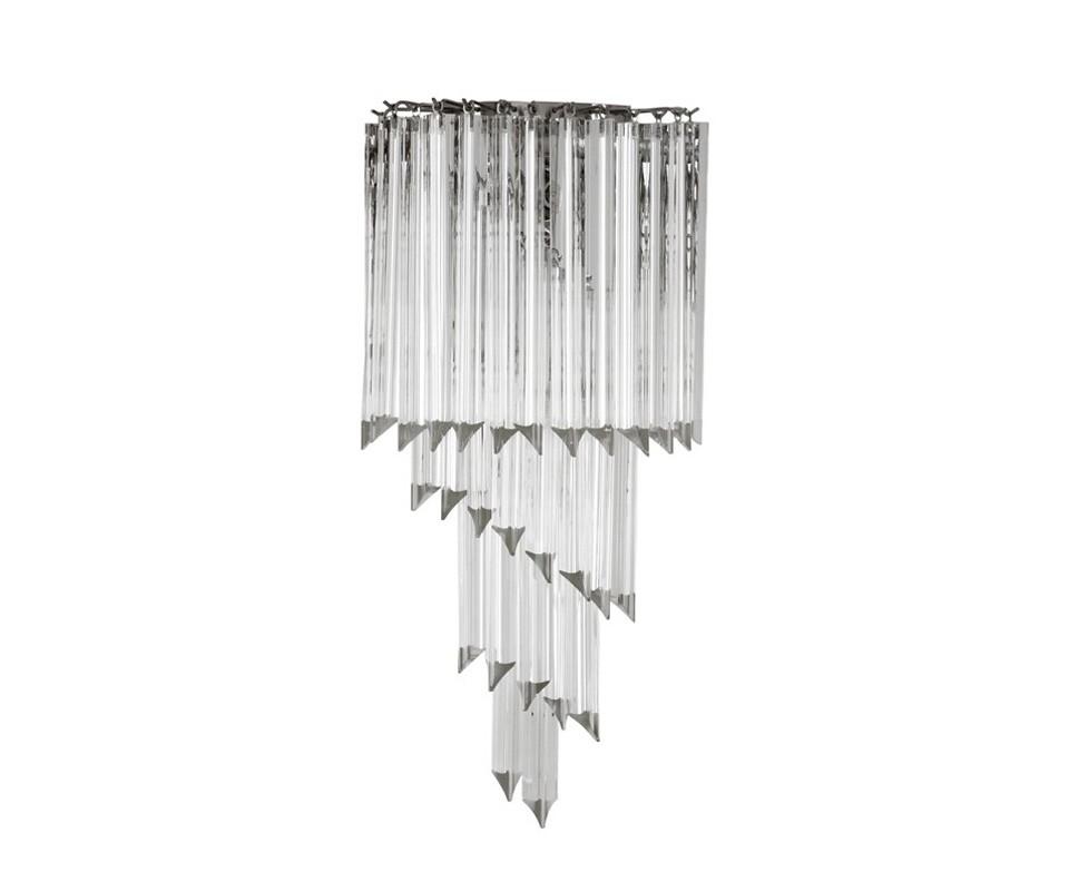 БраБра<br>Настенный светильник из коллекции Marino на никелированной арматуре. Плафон выполнен из многоуровневых пластин из прозрачного стекла.&amp;lt;div&amp;gt;&amp;lt;br&amp;gt;&amp;lt;/div&amp;gt;&amp;lt;div&amp;gt;&amp;lt;div&amp;gt;Цоколь: E14&amp;lt;/div&amp;gt;&amp;lt;div&amp;gt;Мощность: 40W&amp;lt;/div&amp;gt;&amp;lt;div&amp;gt;Количество ламп: 1&amp;lt;/div&amp;gt;&amp;lt;/div&amp;gt;<br><br>Material: Стекло<br>Ширина см: 28<br>Высота см: 64<br>Глубина см: 14